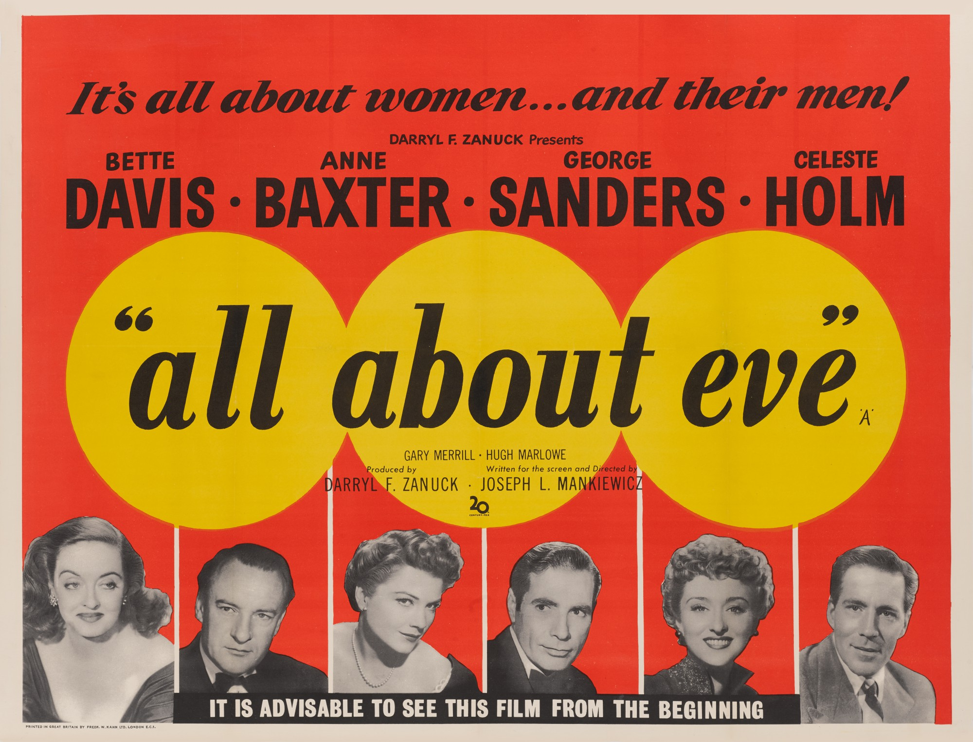 ALL ABOUT EVE (1950) POSTER, BRITISH
