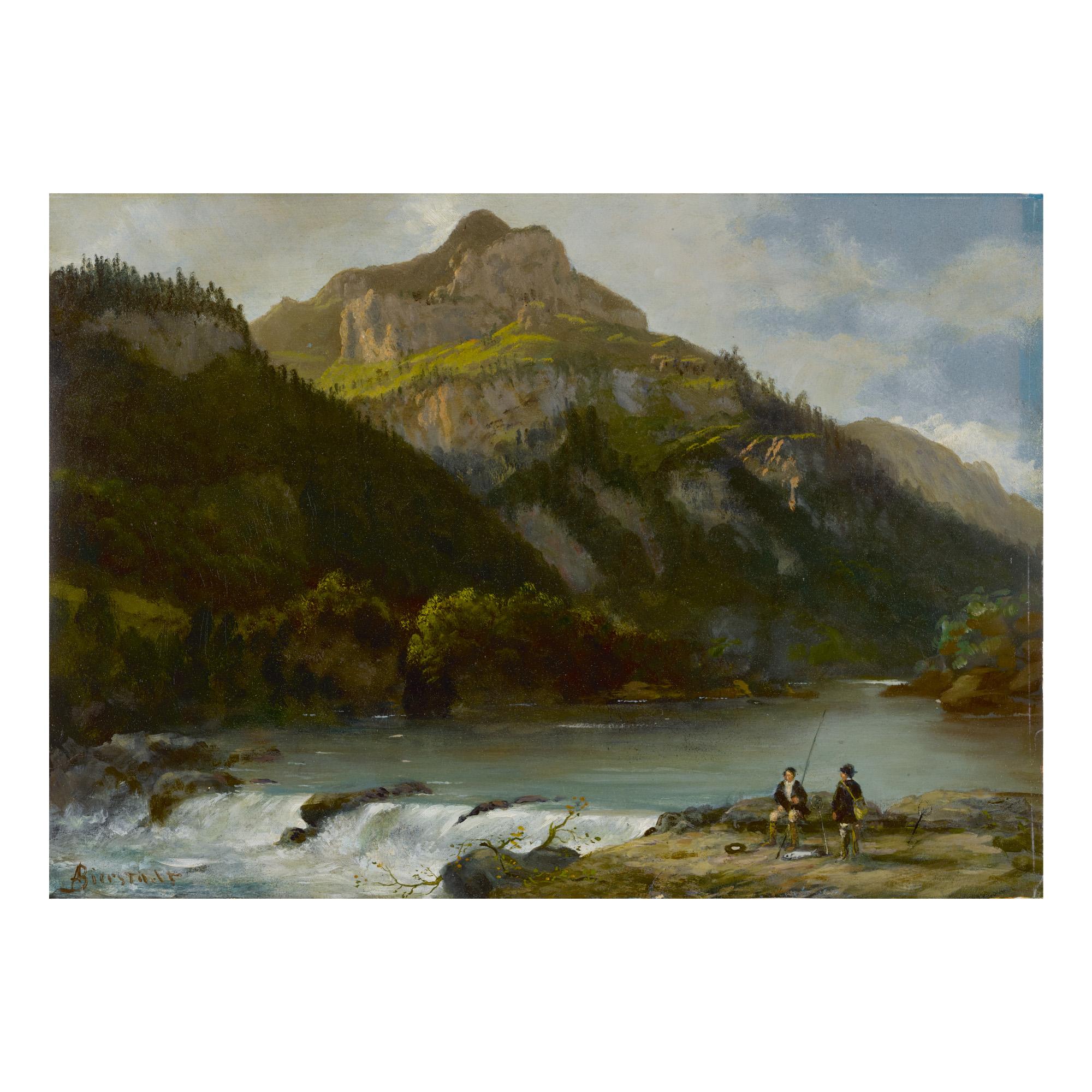 ALBERT BIERSTADT  | MOUNTAIN LANDSCAPE