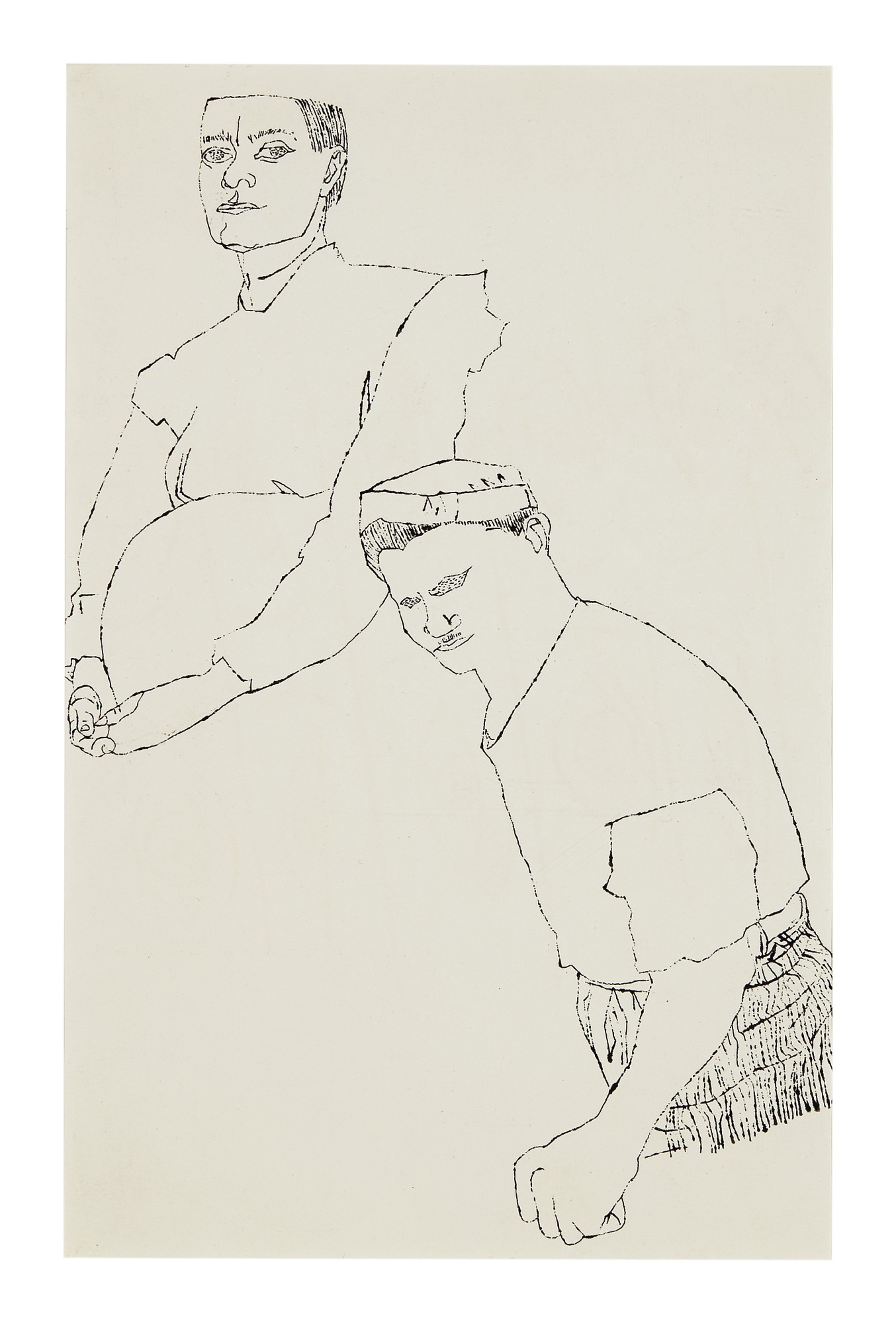 ANDY WARHOL | UNTITLED (FEMALE AND MALE UPPER TORSOS)