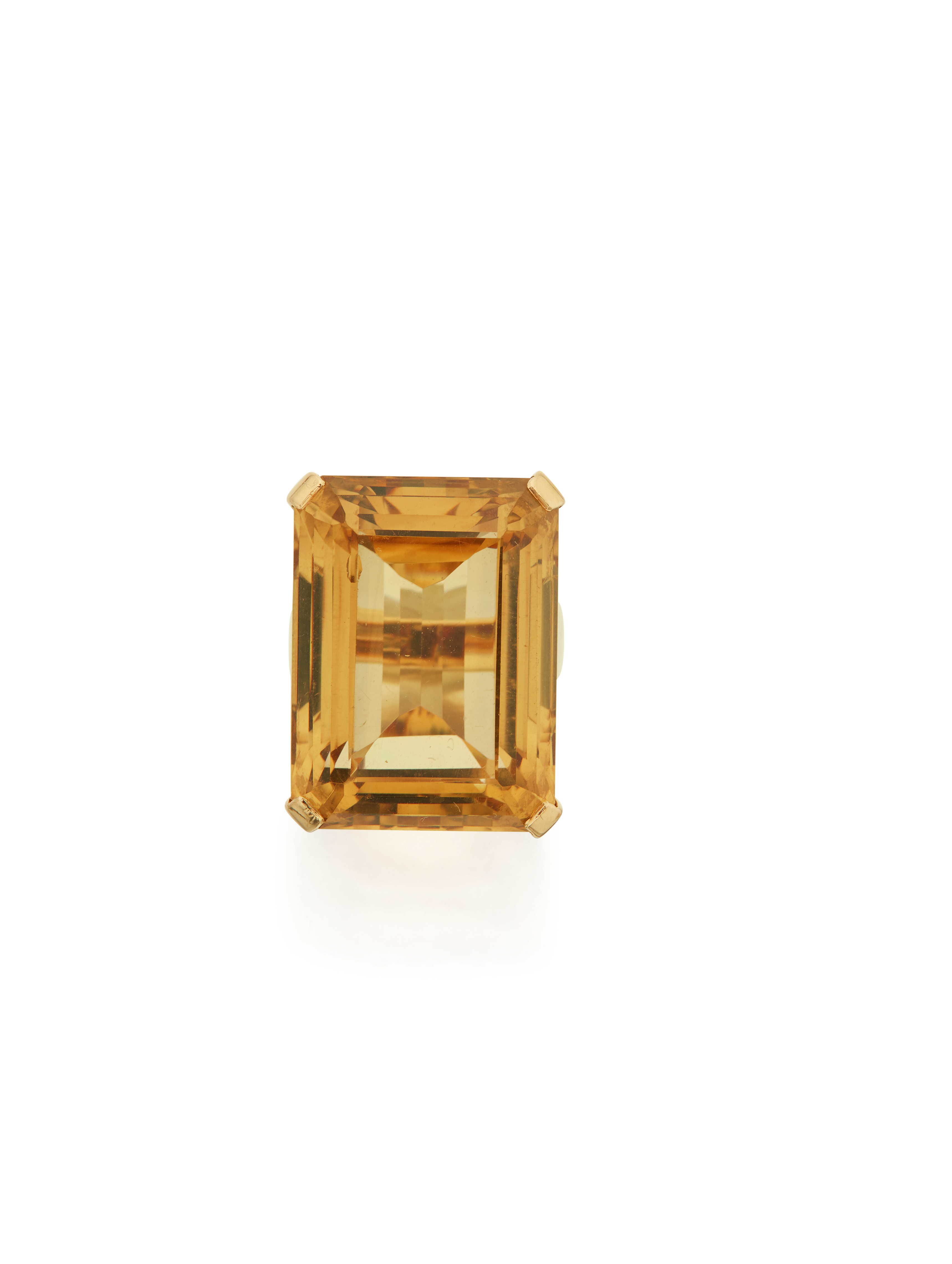 View full screen - View 1 of Lot 59. GOLD AND CITRINE RING, SEAMAN SCHEPPS.