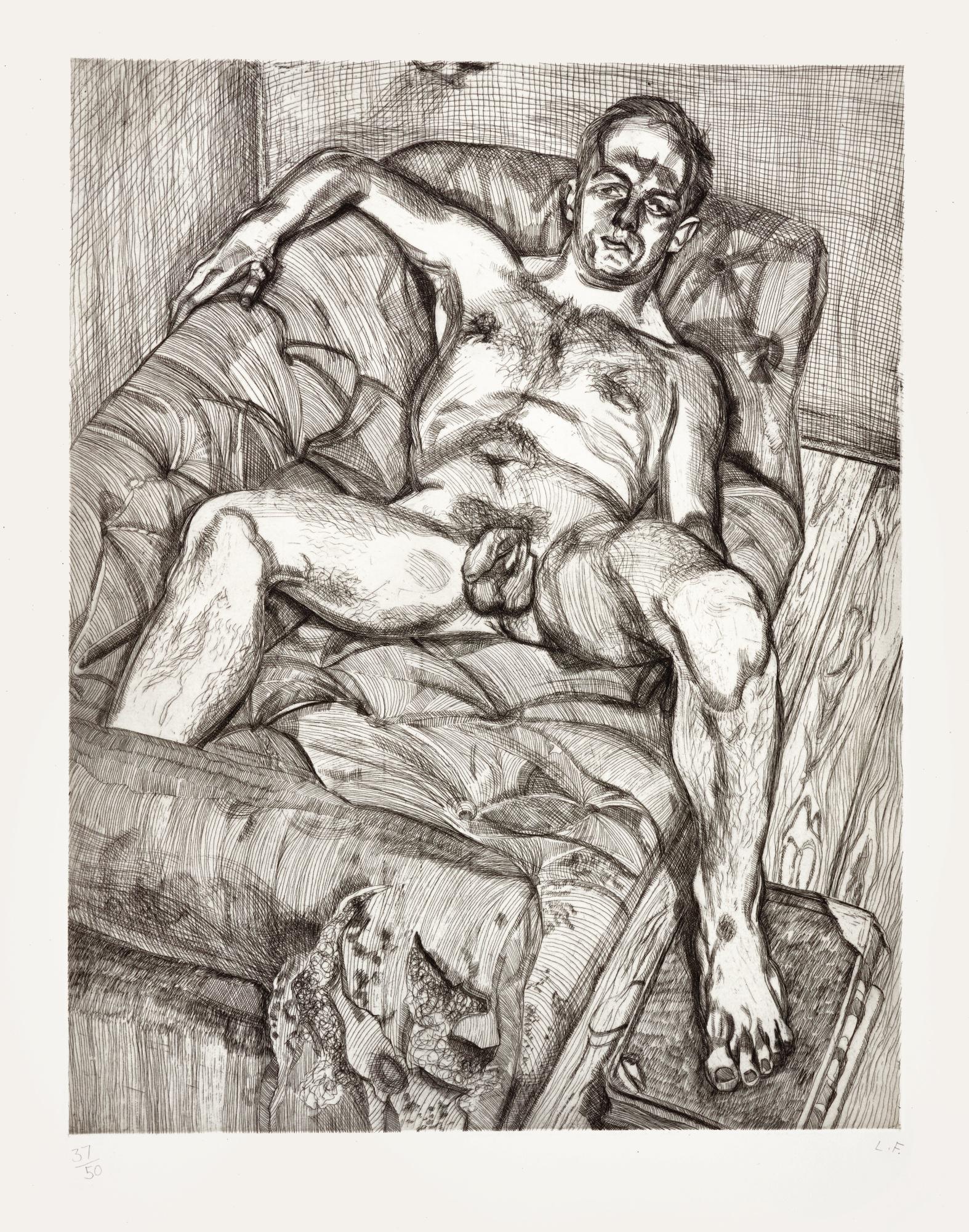 LUCIAN FREUD | MAN POSING (HARTLEY 27; FIGURA 34)