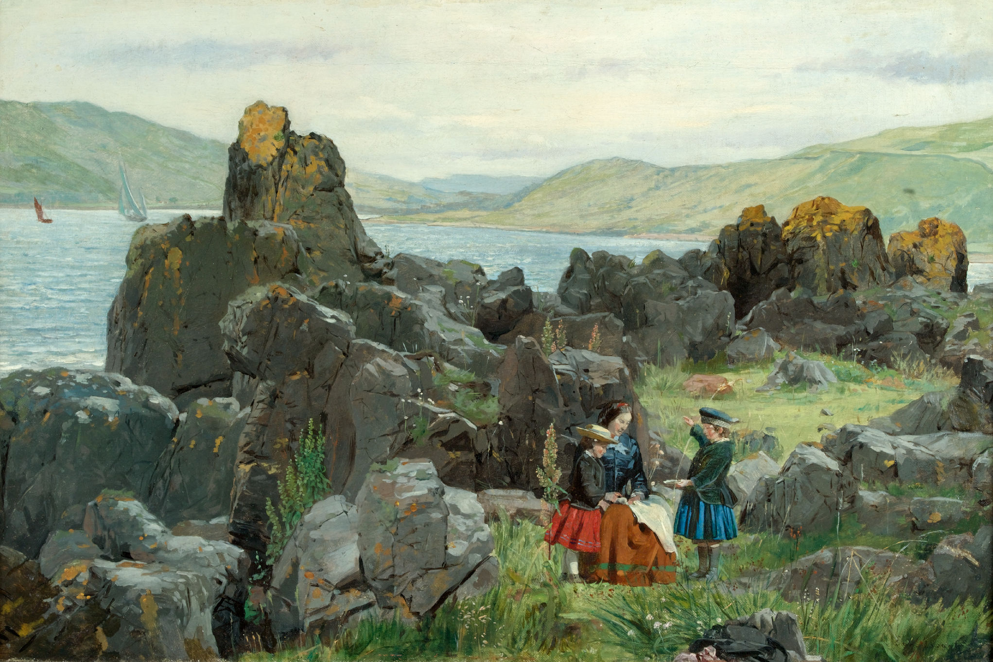 SAMUEL BOUGH, R.S.A. | Anne, Nelly and Tom, the Children of David McBeath of Nunlands Near Ayrton, Berwickshire