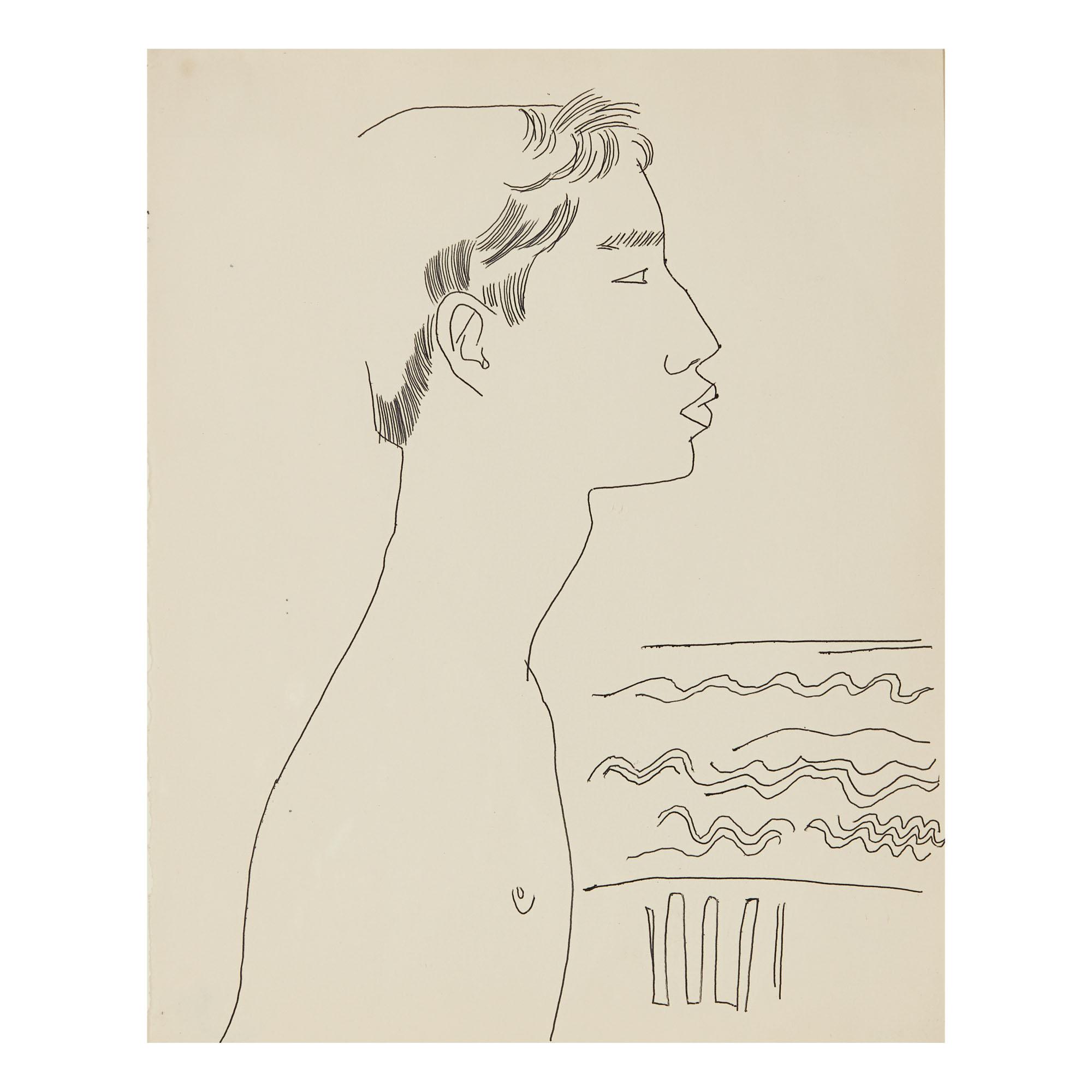 ANDY WARHOL | MALE PROFILE BY SEA