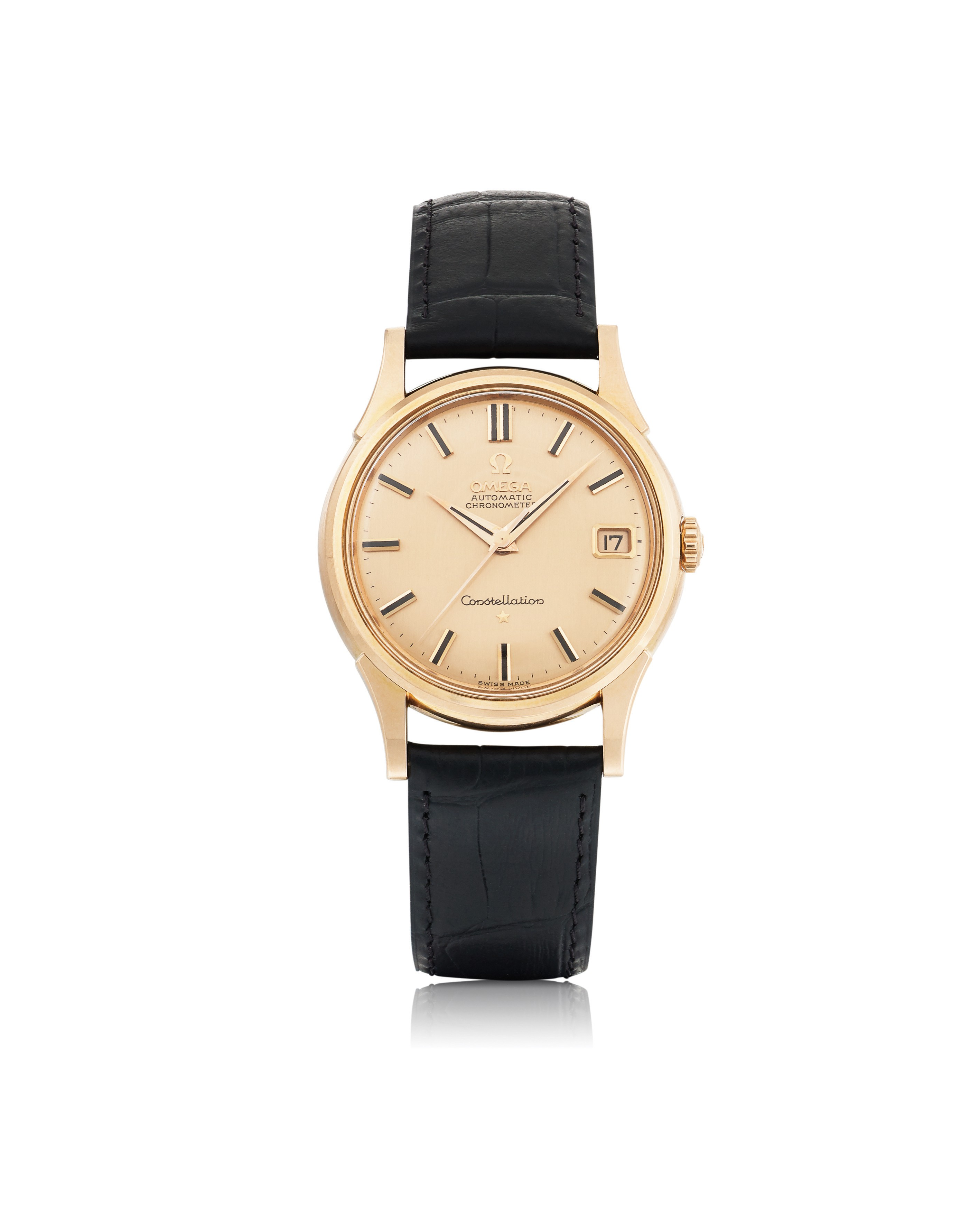 OMEGA | CONSTELLATION, REF 14393/4 SC 2 PINK GOLD WRISTWATCH WITH DATE CIRCA 1959