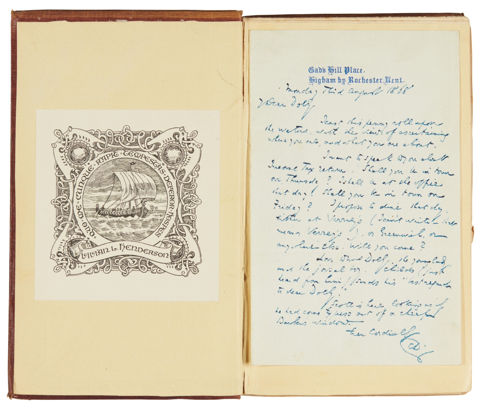 Dickens, Oliver Twist, 1838, first edition, first issue, with autograph letter signed by author