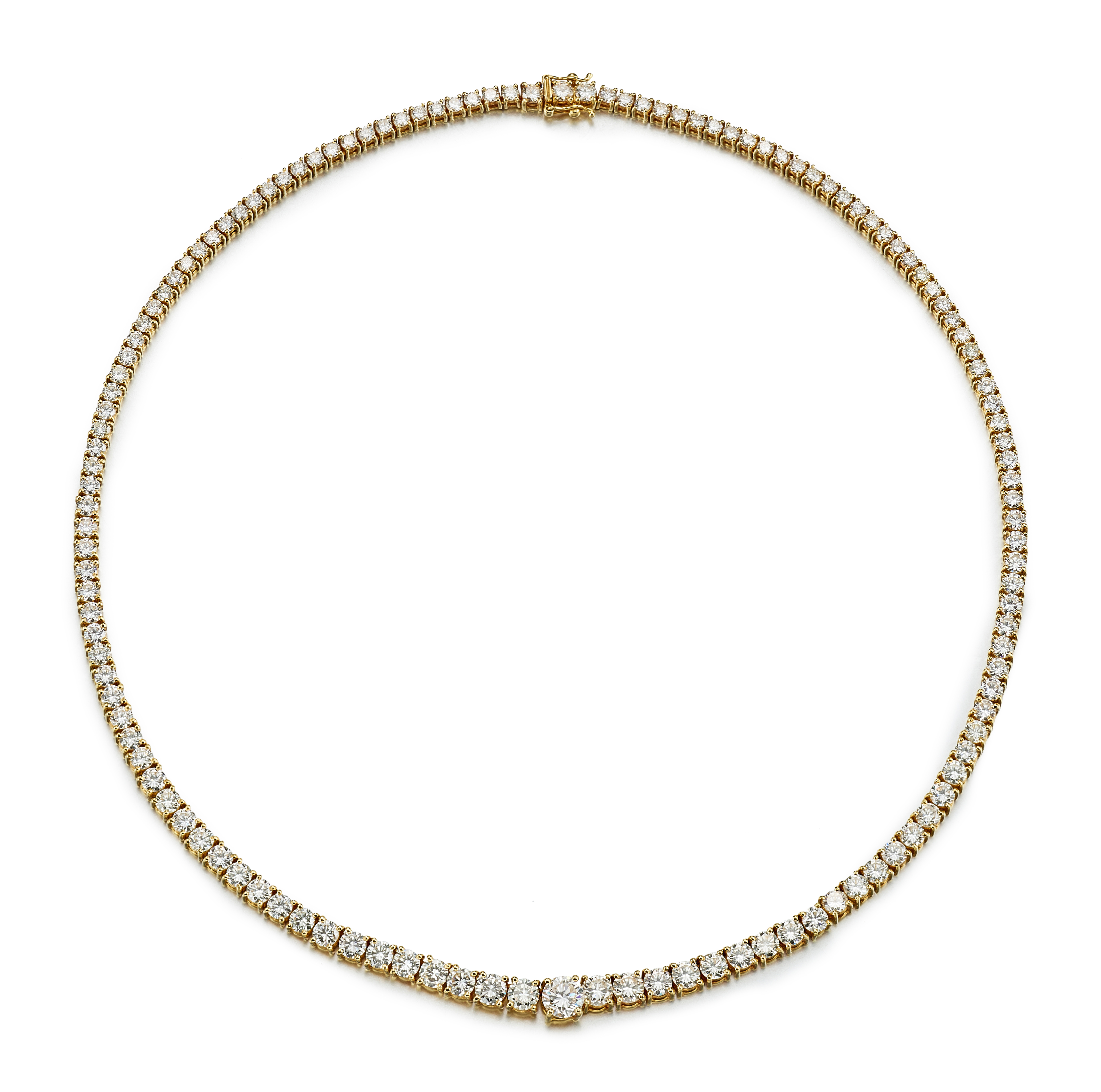 View 1 of Lot 9136. DIAMOND NECKLACE   鑽石項鏈.