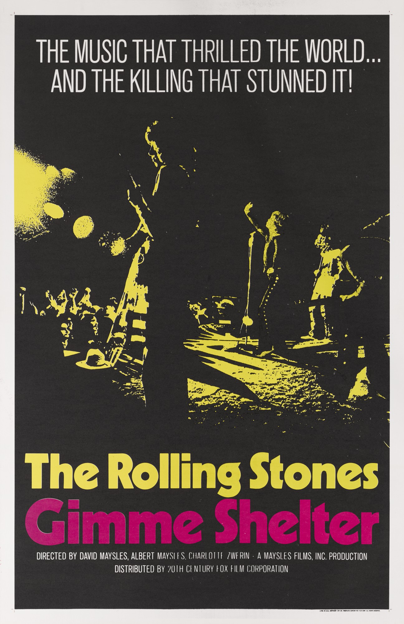 GIMME SHELTER (1970) POSTER, US