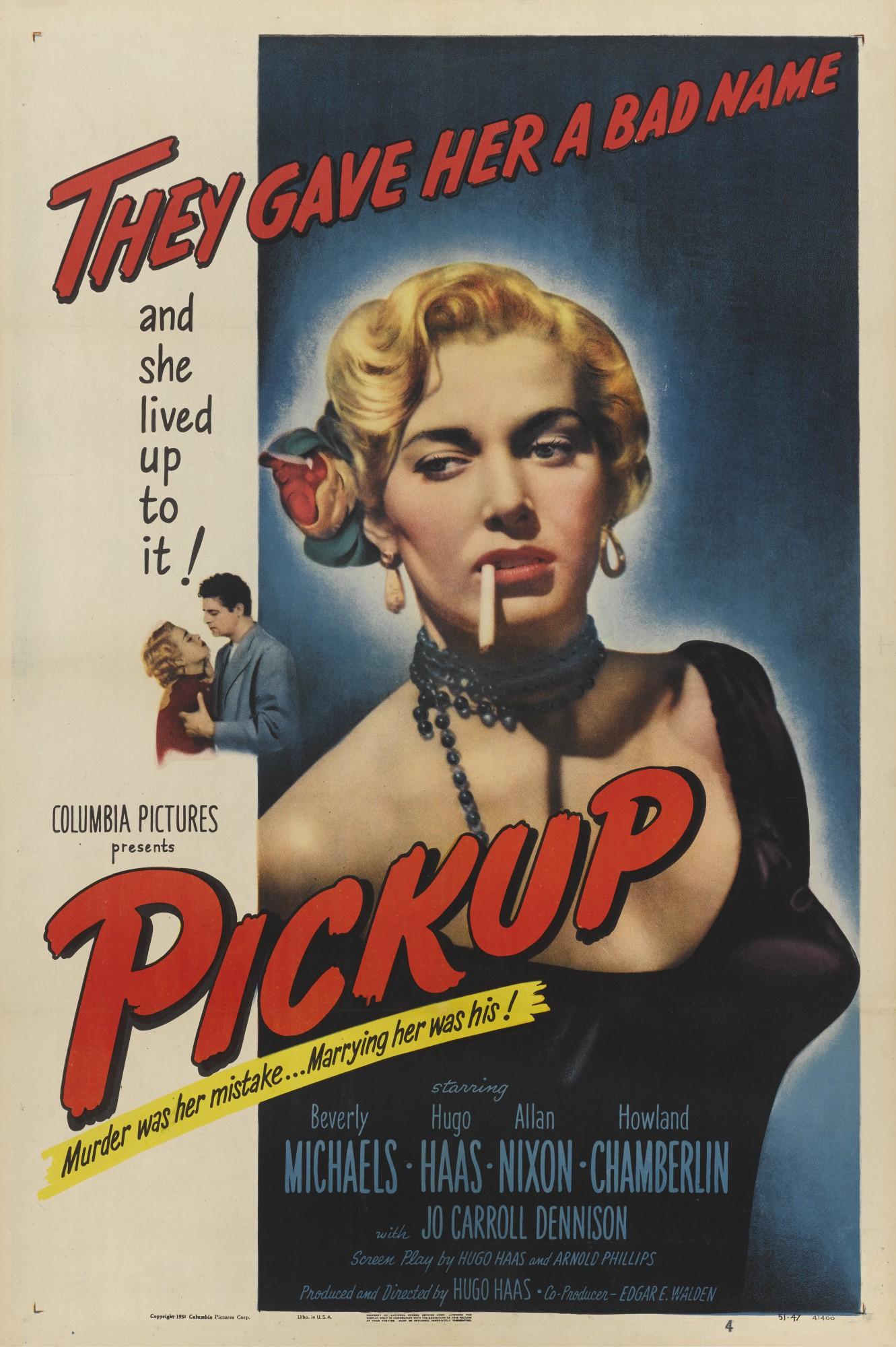 PICKUP (1951) POSTER, US