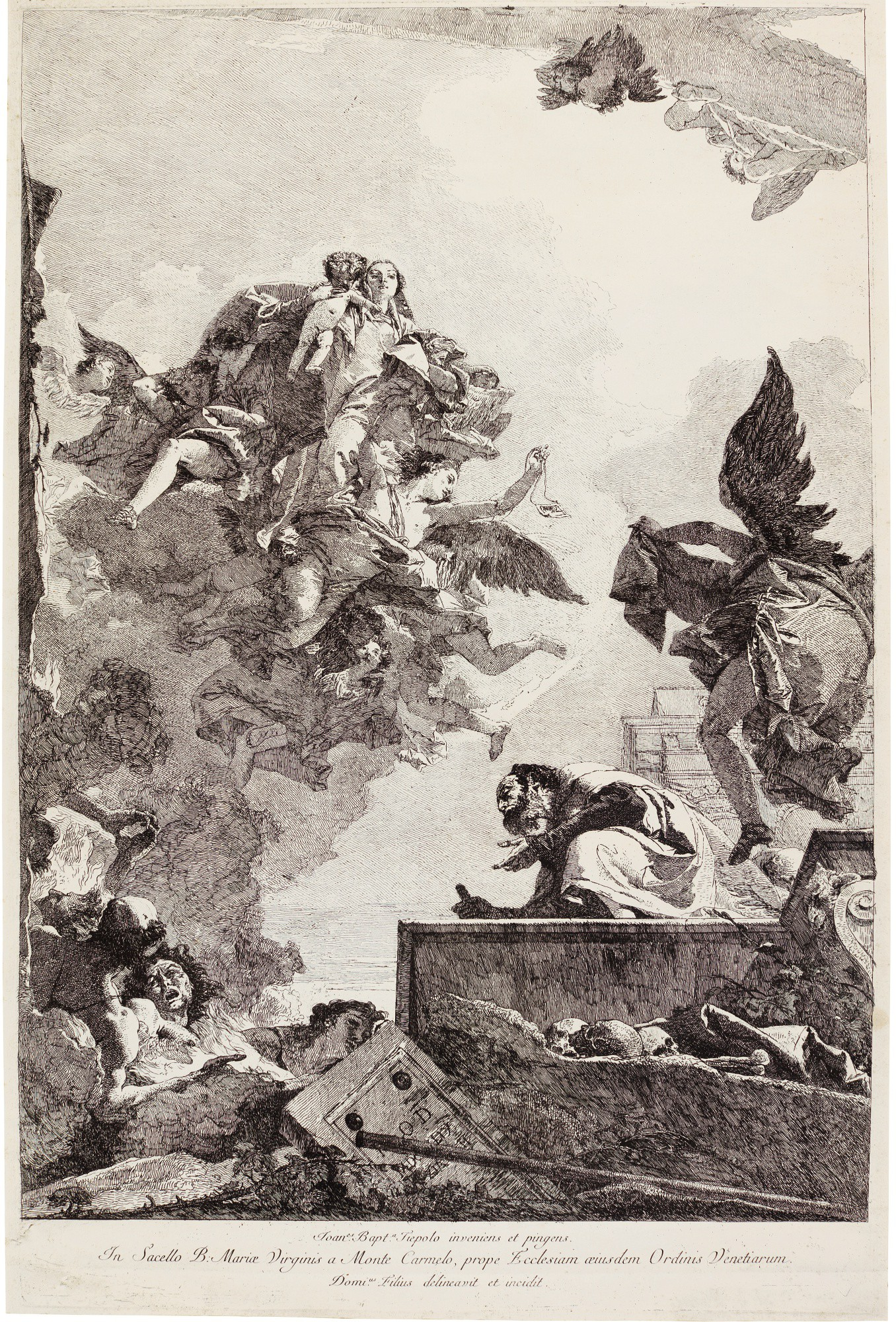 GIOVANNI DOMENICO TIEPOLO | THE VIRGIN APPEARING TO SAINT SIMON STOCK (D. 57; R. 98)