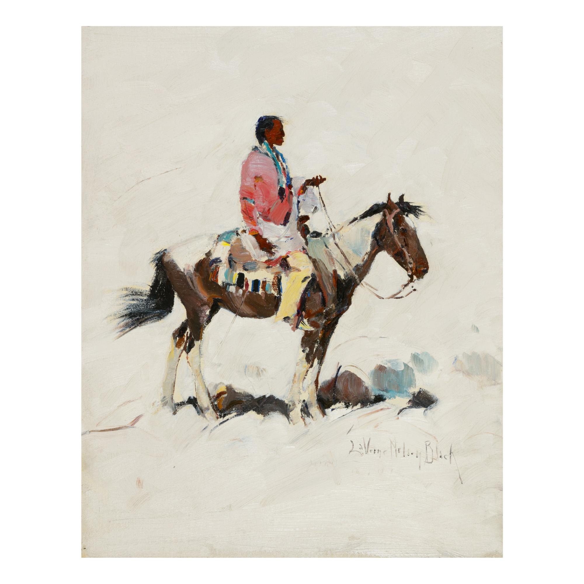 LAVERNE NELSON BLACK | LONE HORSEMAN