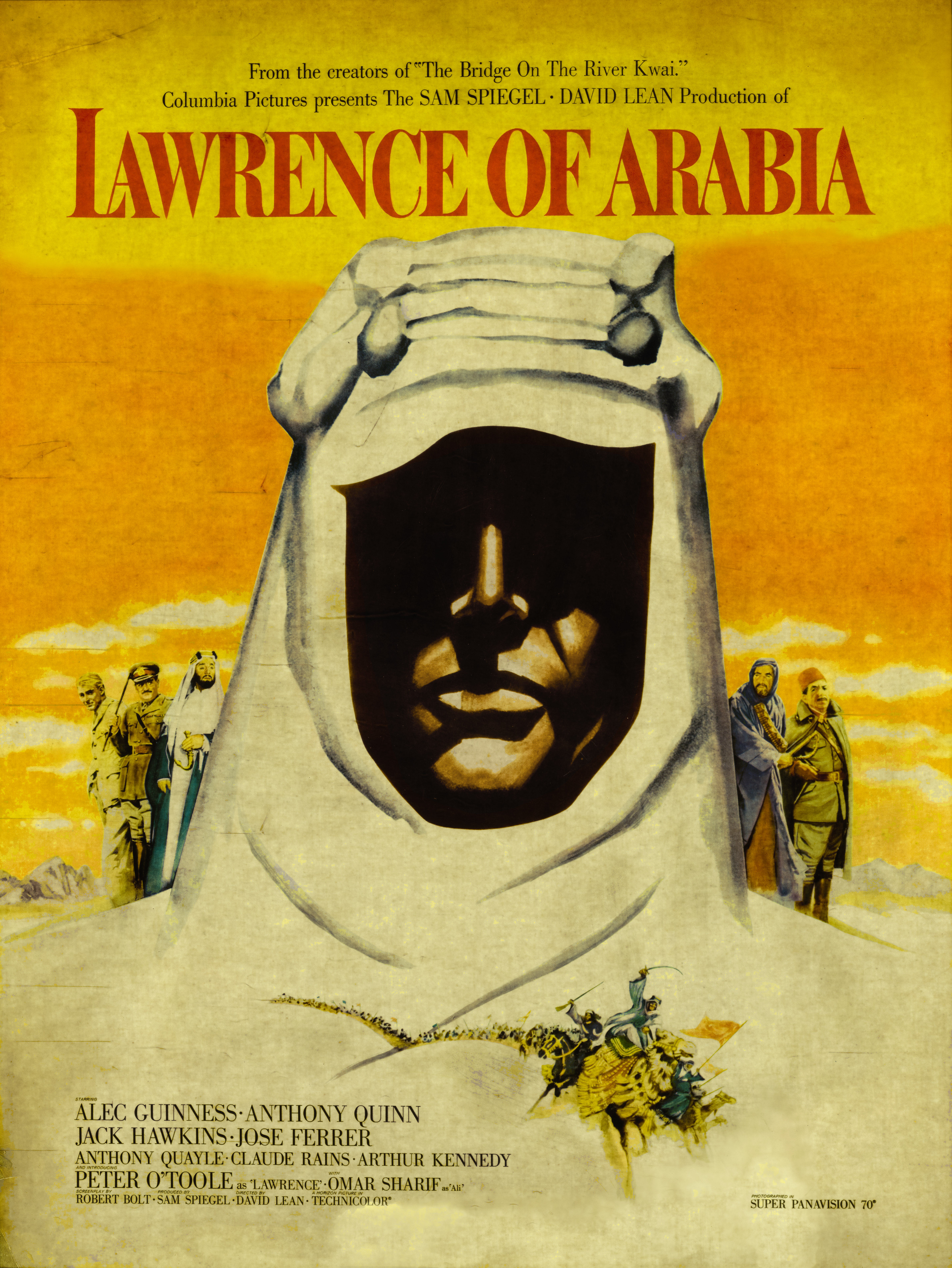 View full screen - View 1 of Lot 151. Lawrence of Arabia (1962) Poster, US, Special double-sided roadshow display.