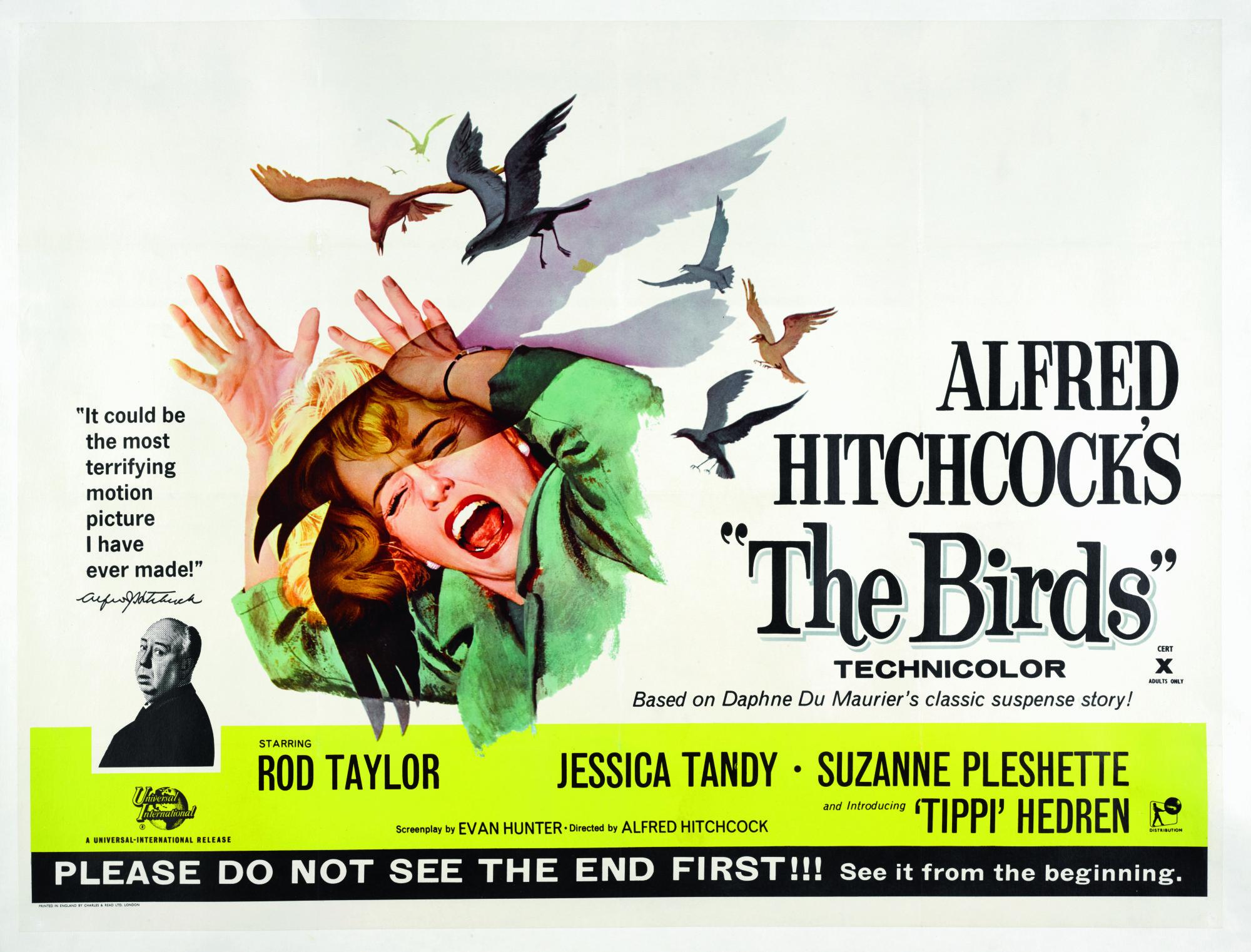 THE BIRDS (1963) POSTER, BRITISH