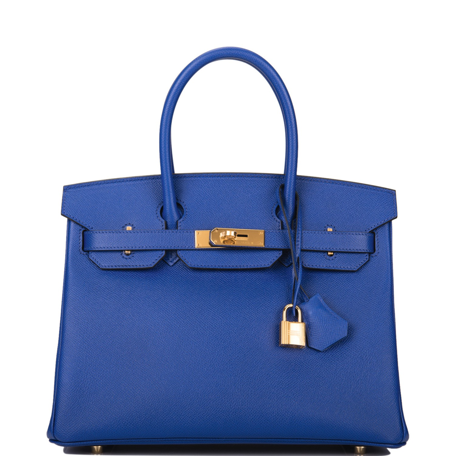 Hermès Bleu Electric Birkin 30cm of Epsom Leather with Gold Hardware
