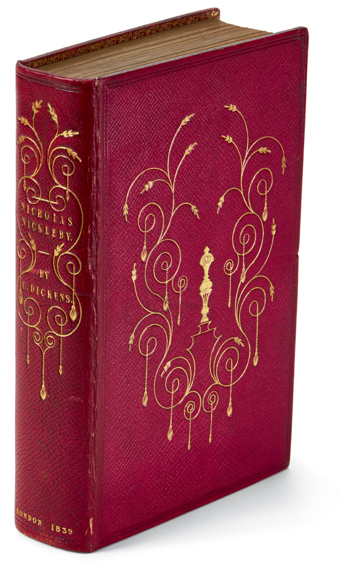 Dickens, Nicholas Nickleby, 1839, first edition, presentation copy in presentation binding inscribed to Lady Holland