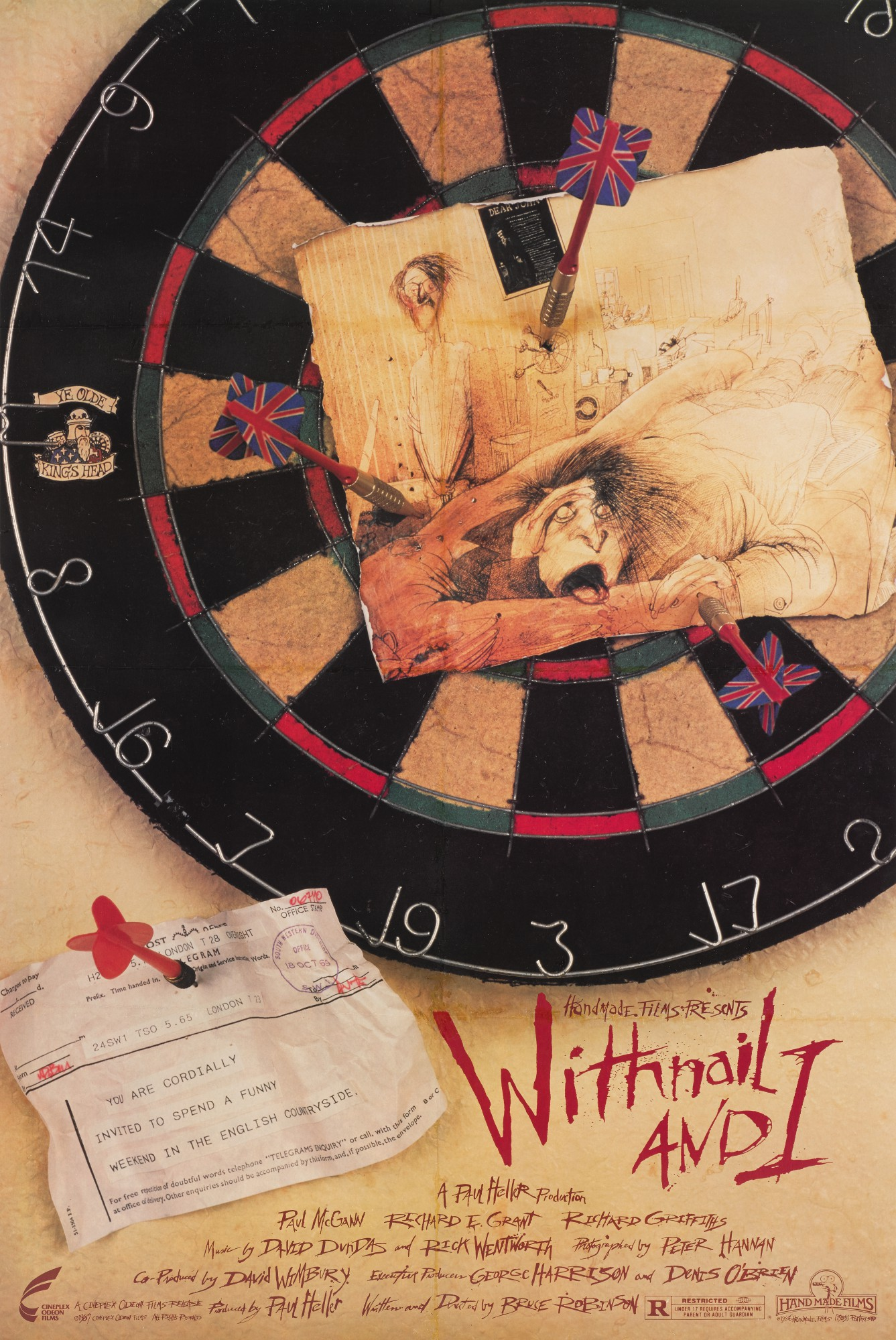 WITHNAIL AND I (1987) POSTER, US