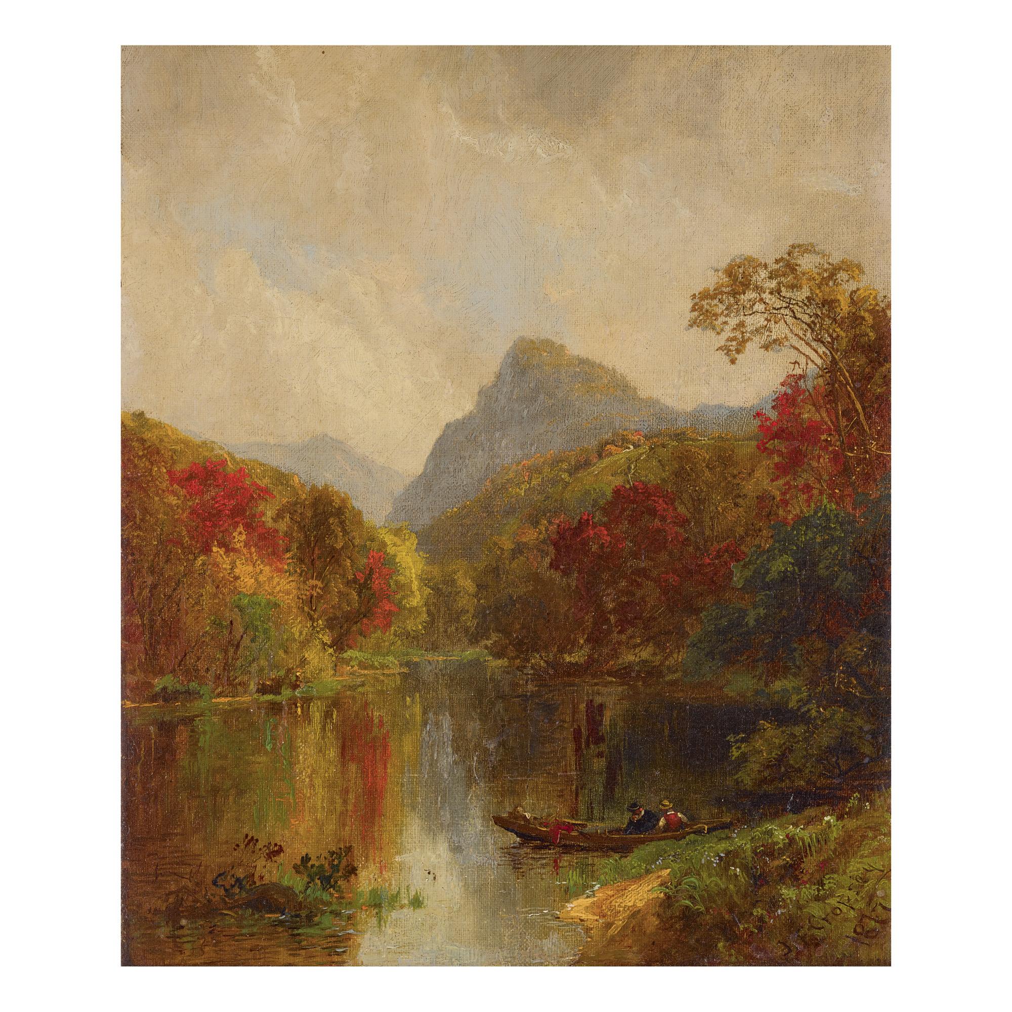 JASPER FRANCIS CROPSEY | AUTUMN LANDSCAPE (LAKE GEORGE)