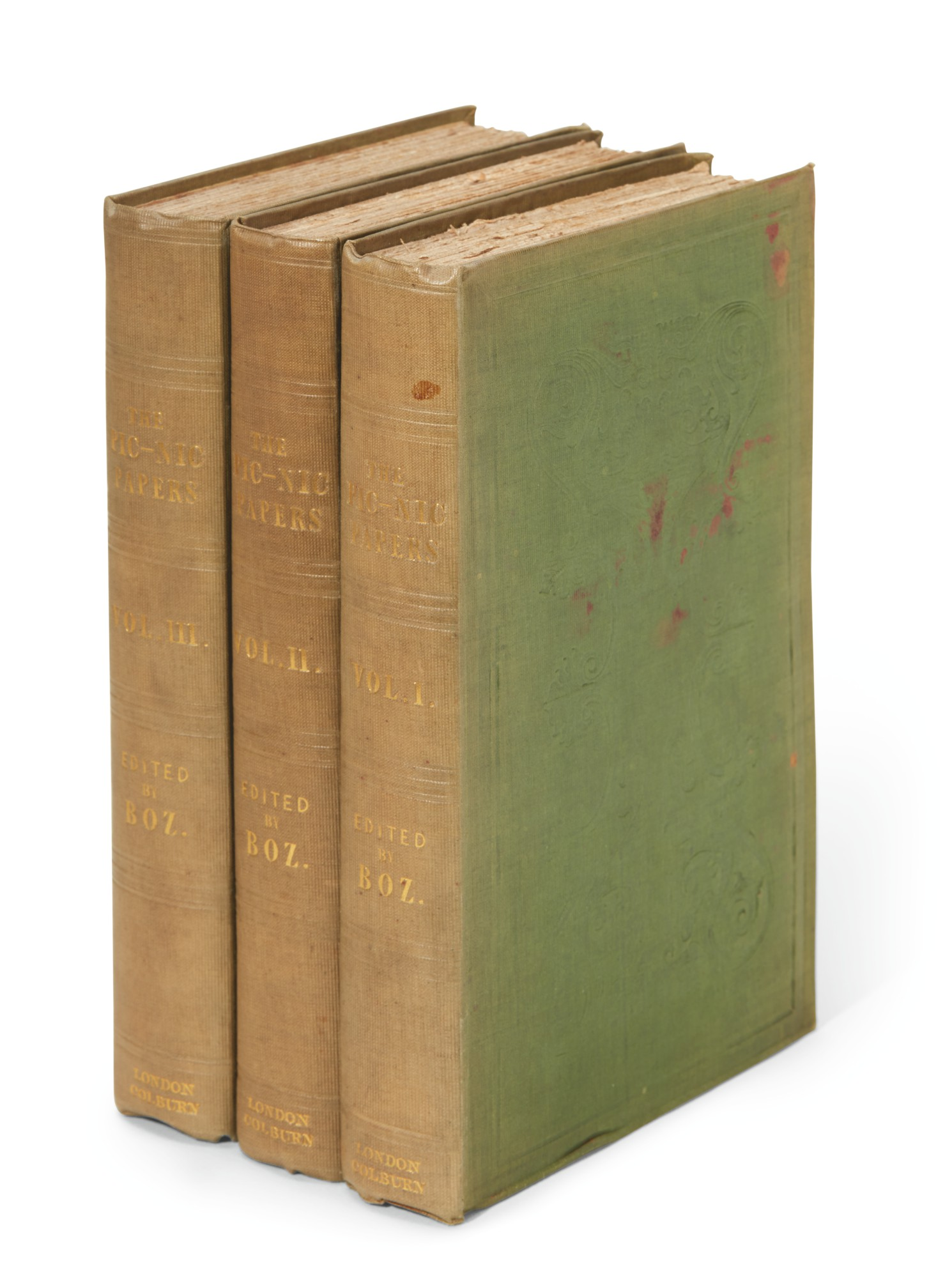 Dickens, The Pic Nic Papers, by various hands, 1841, first edition, first issue
