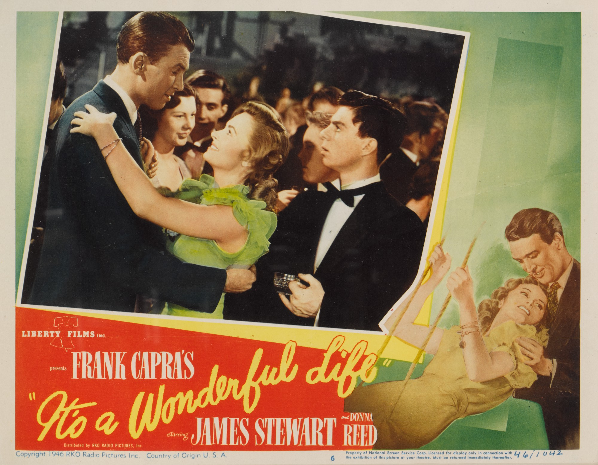 IT'S A WONDERFUL LIFE (1946) LOBBY CARD, US