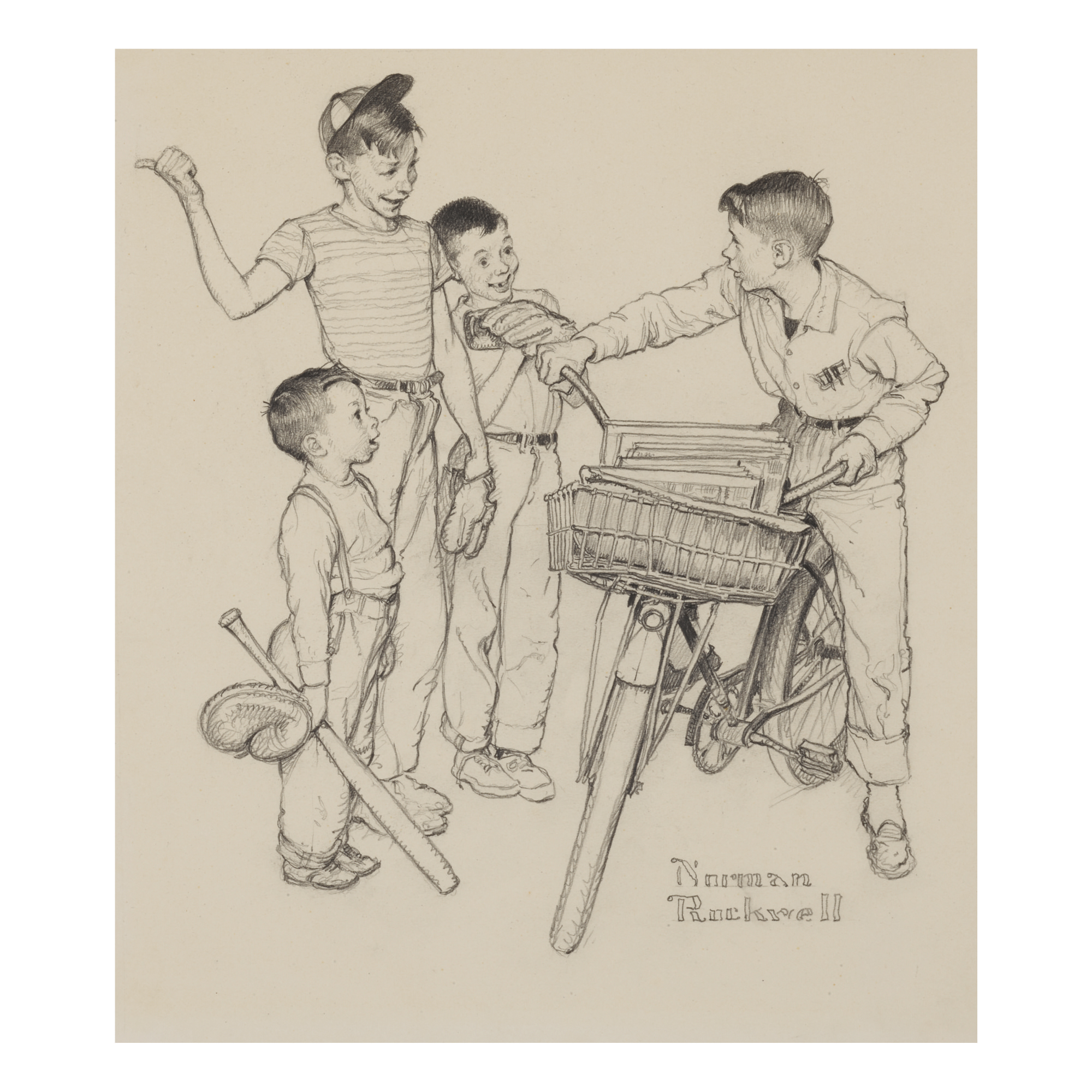 NORMAN ROCKWELL   WHAT DO YOU TEACH A BOY OF TWELVE?