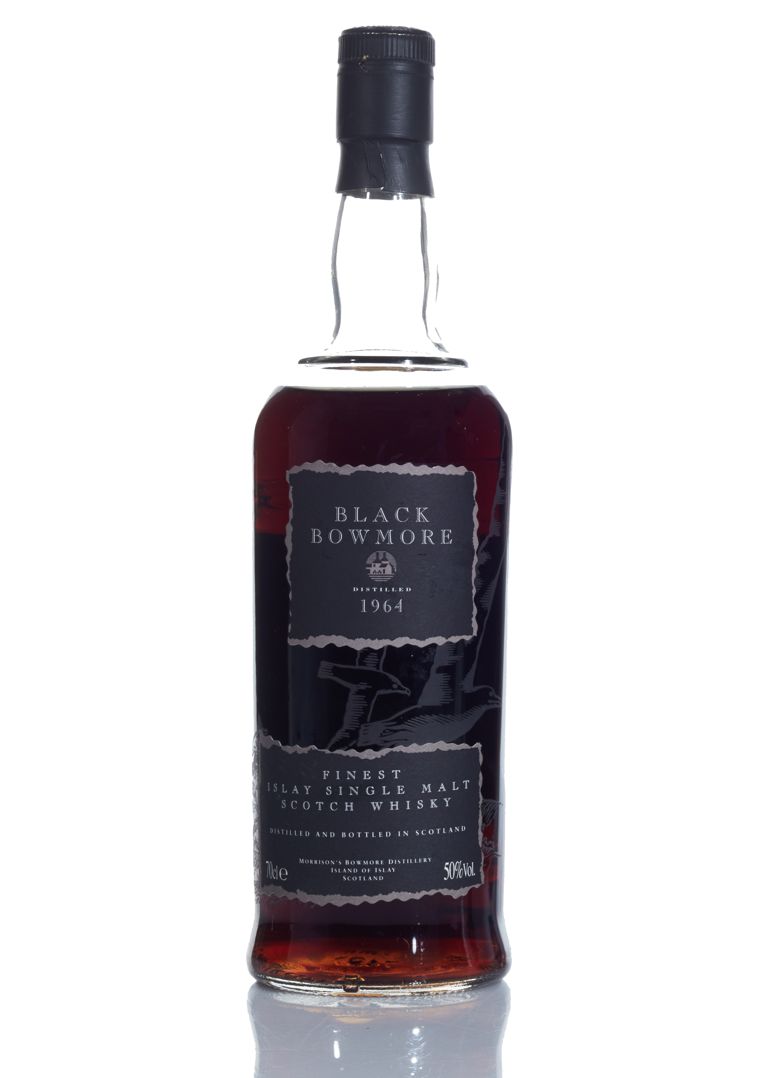 View full screen - View 1 of Lot 3. Bowmore Black Second Release 50.0 abv 1964 (1 BT75).