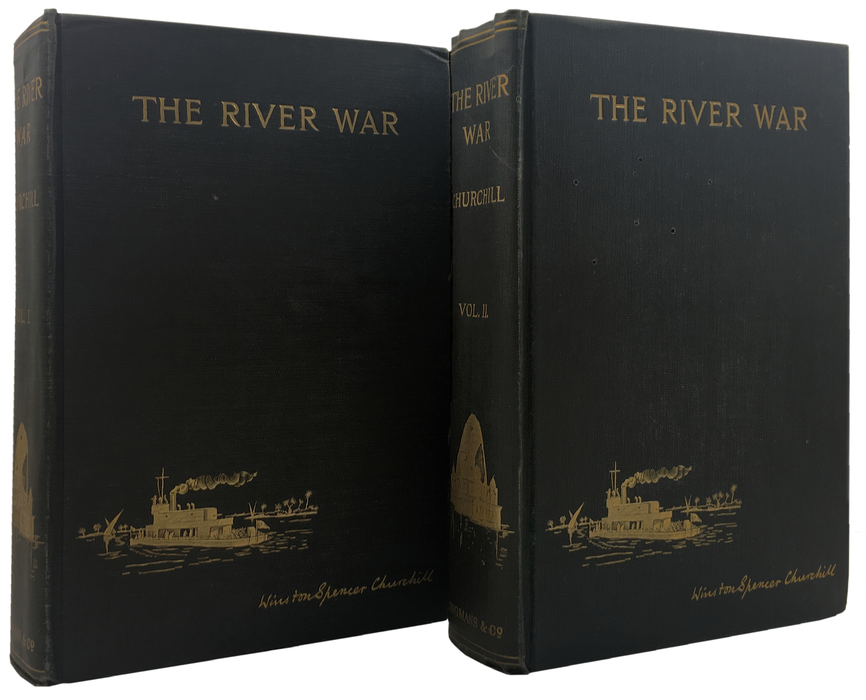 View full screen - View 1 of Lot 6. Winston S. Churchill   The River War... London: Longmans, Green and Co., 1899.
