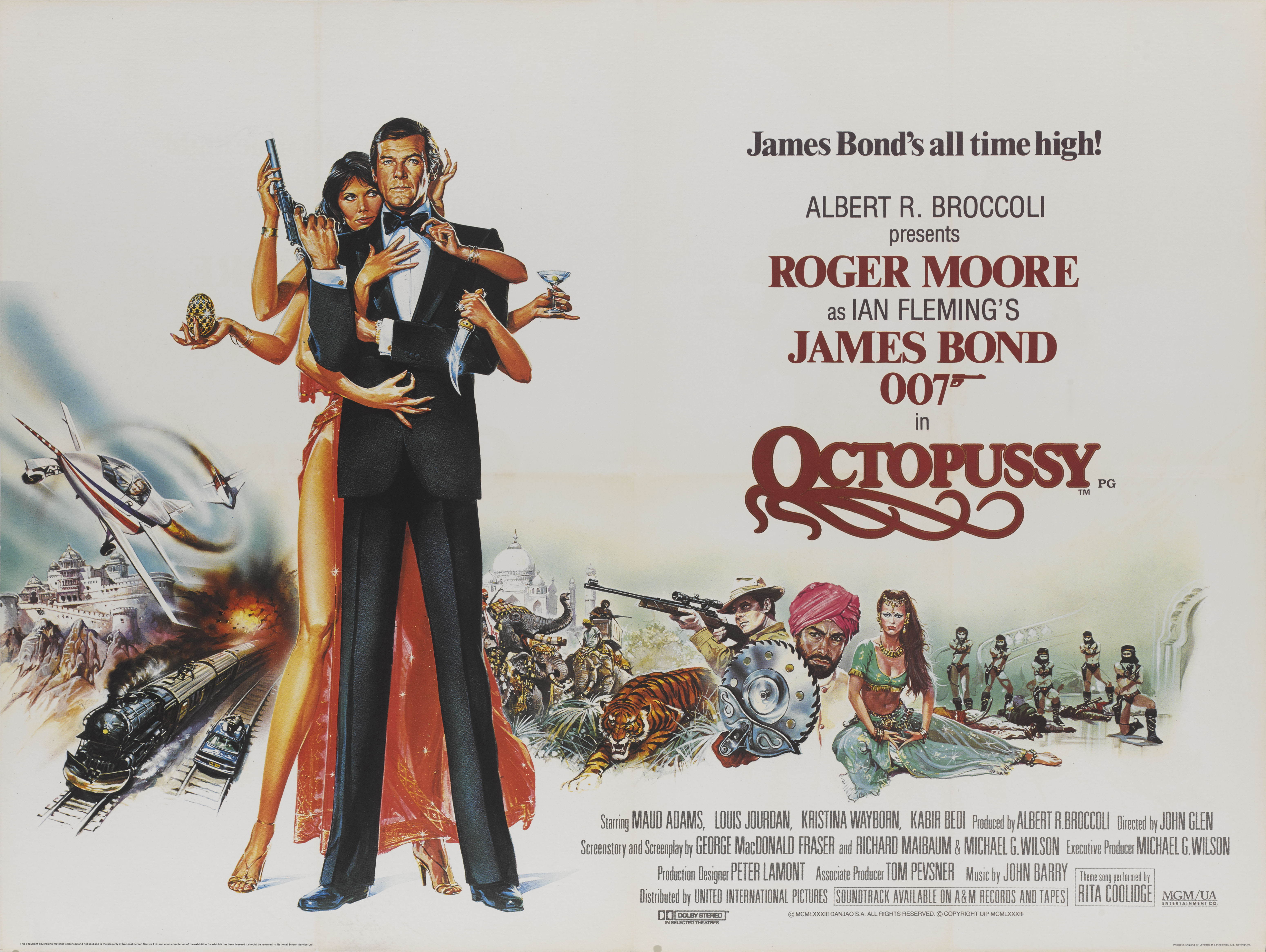 OCTOPUSSY (1983) POSTER, BRITISH