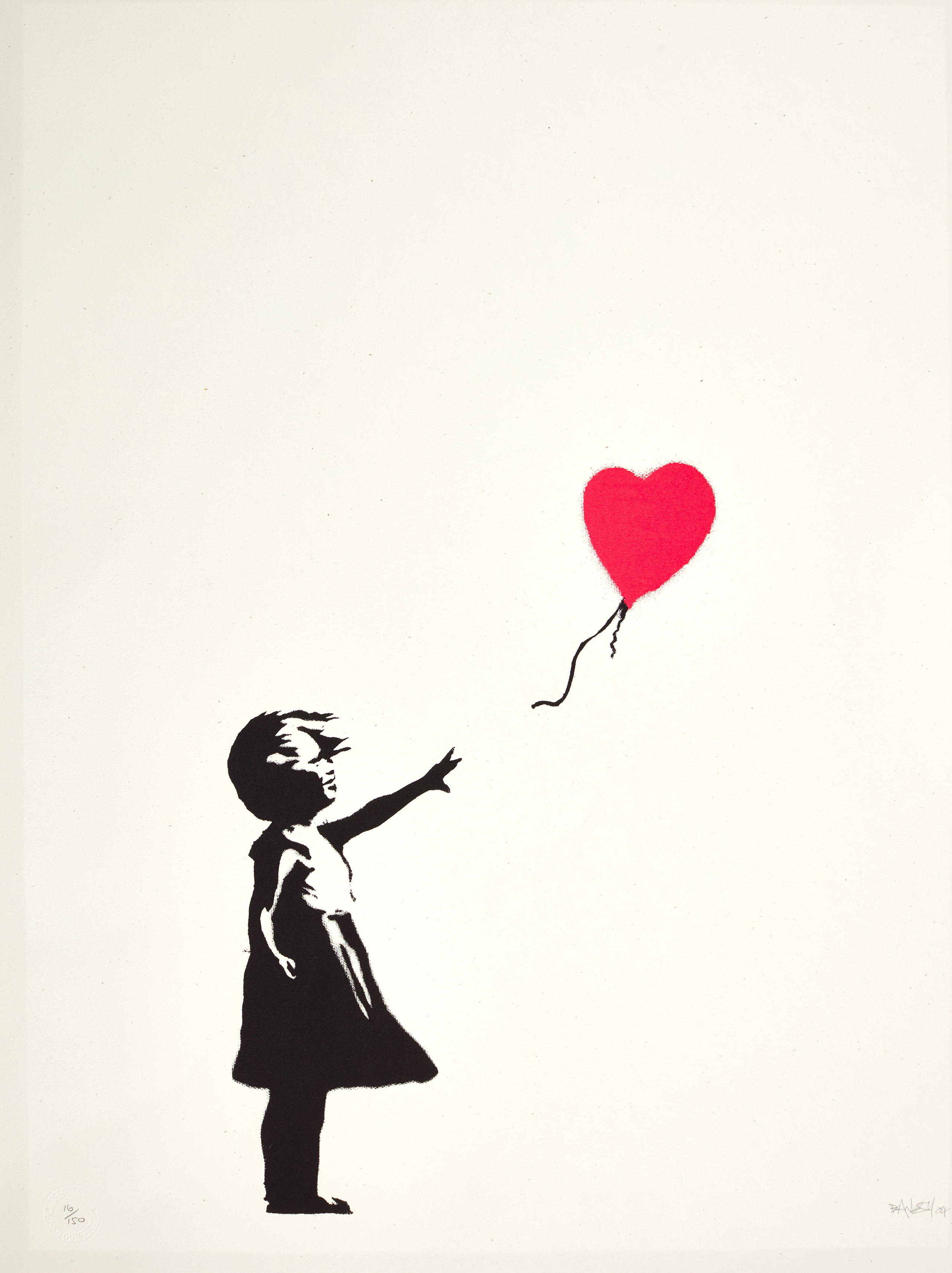 View full screen - View 1 of Lot 11. BANKSY   GIRL WITH BALLOON   .