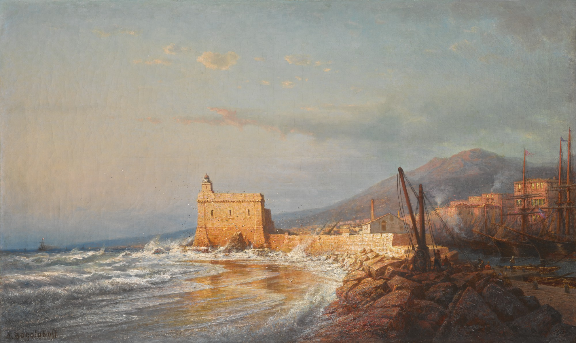 ALEXEI PETROVICH BOGOLIUBOV | Sunset in Stormy Weather, Menton