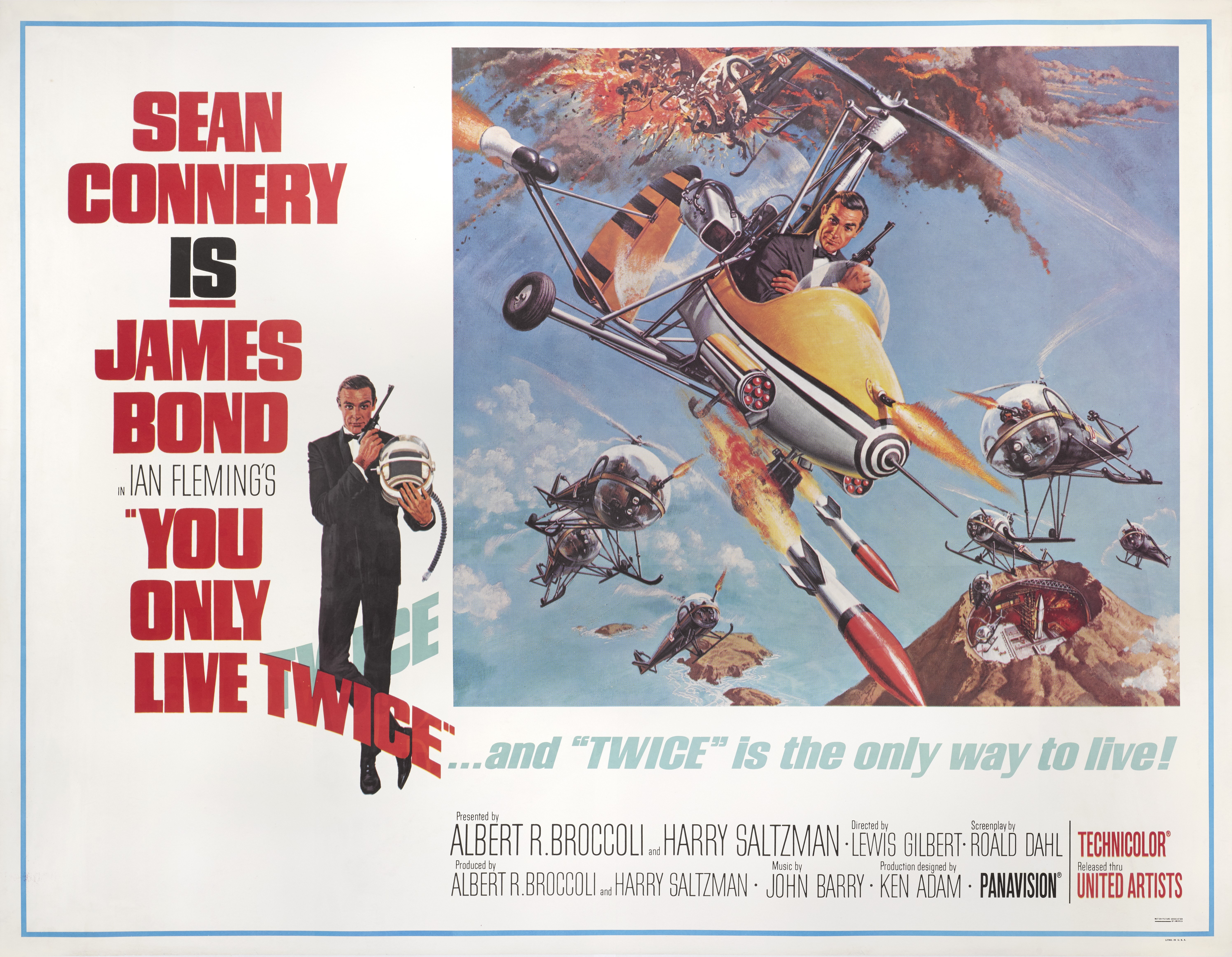 View 1 of Lot 74. YOU ONLY LIVE TWICE (1967) POSTER, US, SUBWAY STYLE B (LITTLE NELLY).