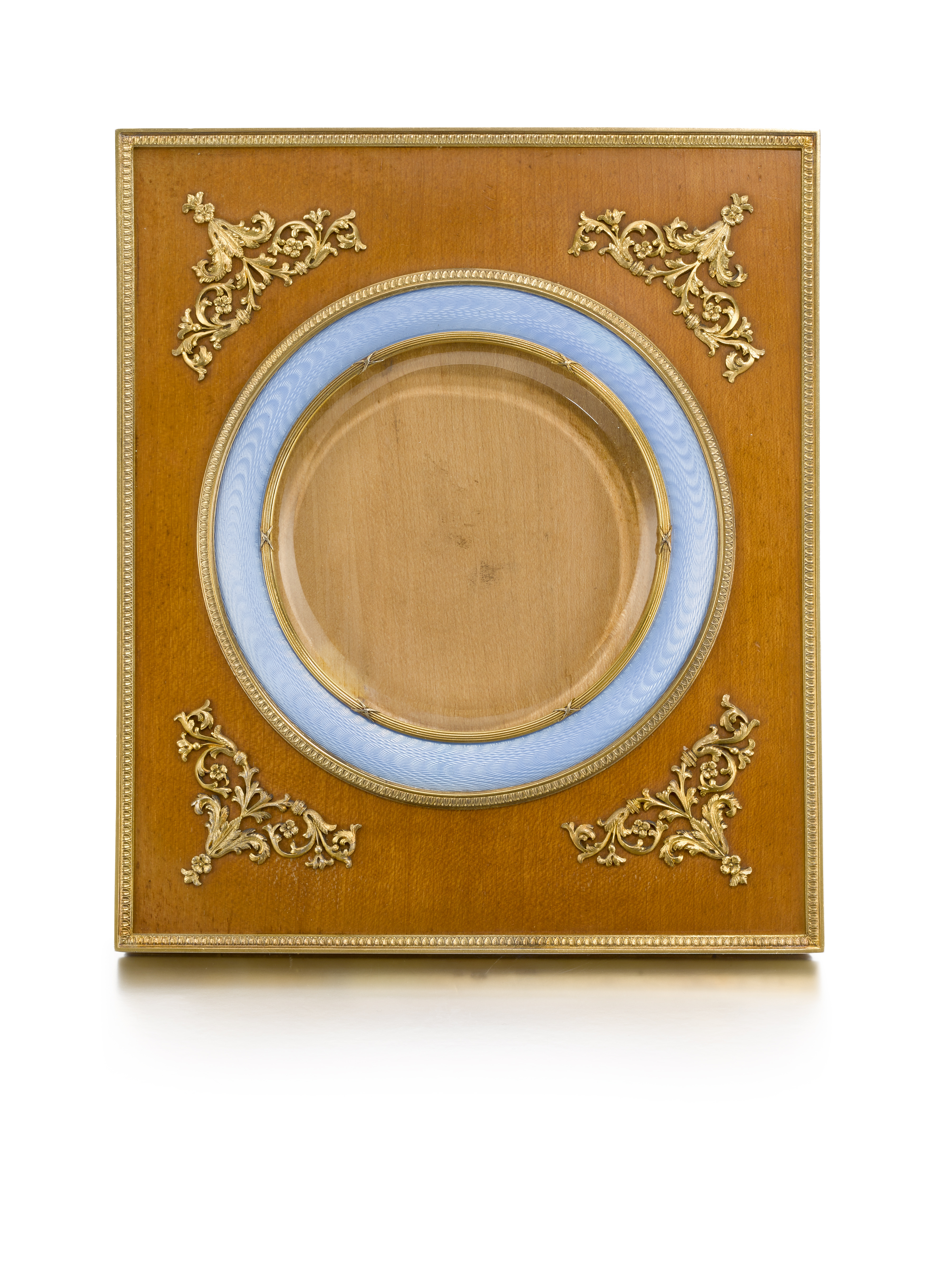 View 1 of Lot 253. A Fabergé wood and enamel frame, Third Artel, St Petersburg, 1908-1917.