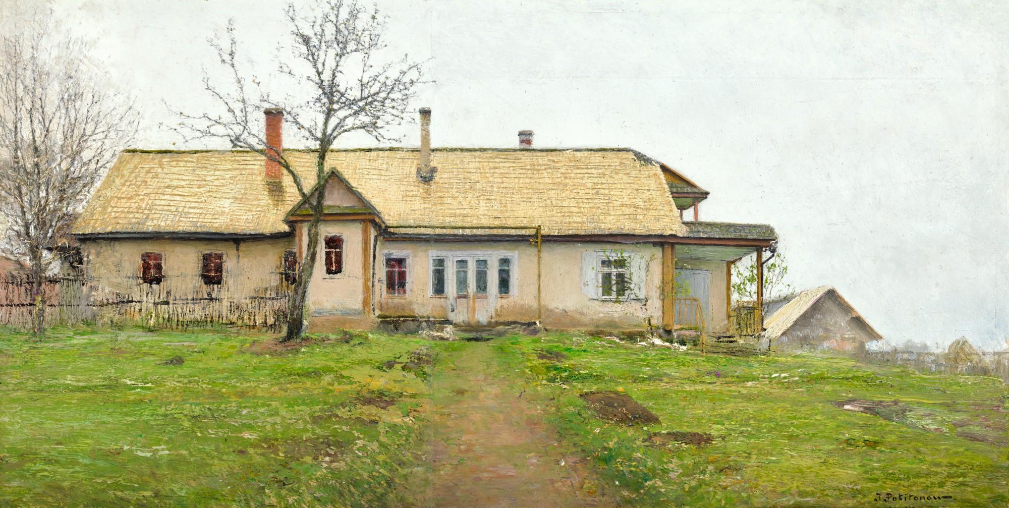 IVAN PAVLOVICH POKHITONOV | THE NEW HOUSE AT ZHABOVSHCHIZNA, NEAR MINSK