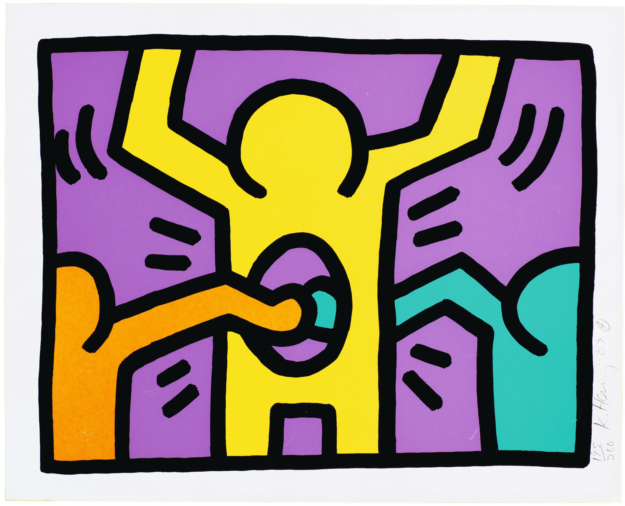 KEITH HARING   UNTITLED (L. P. 83)