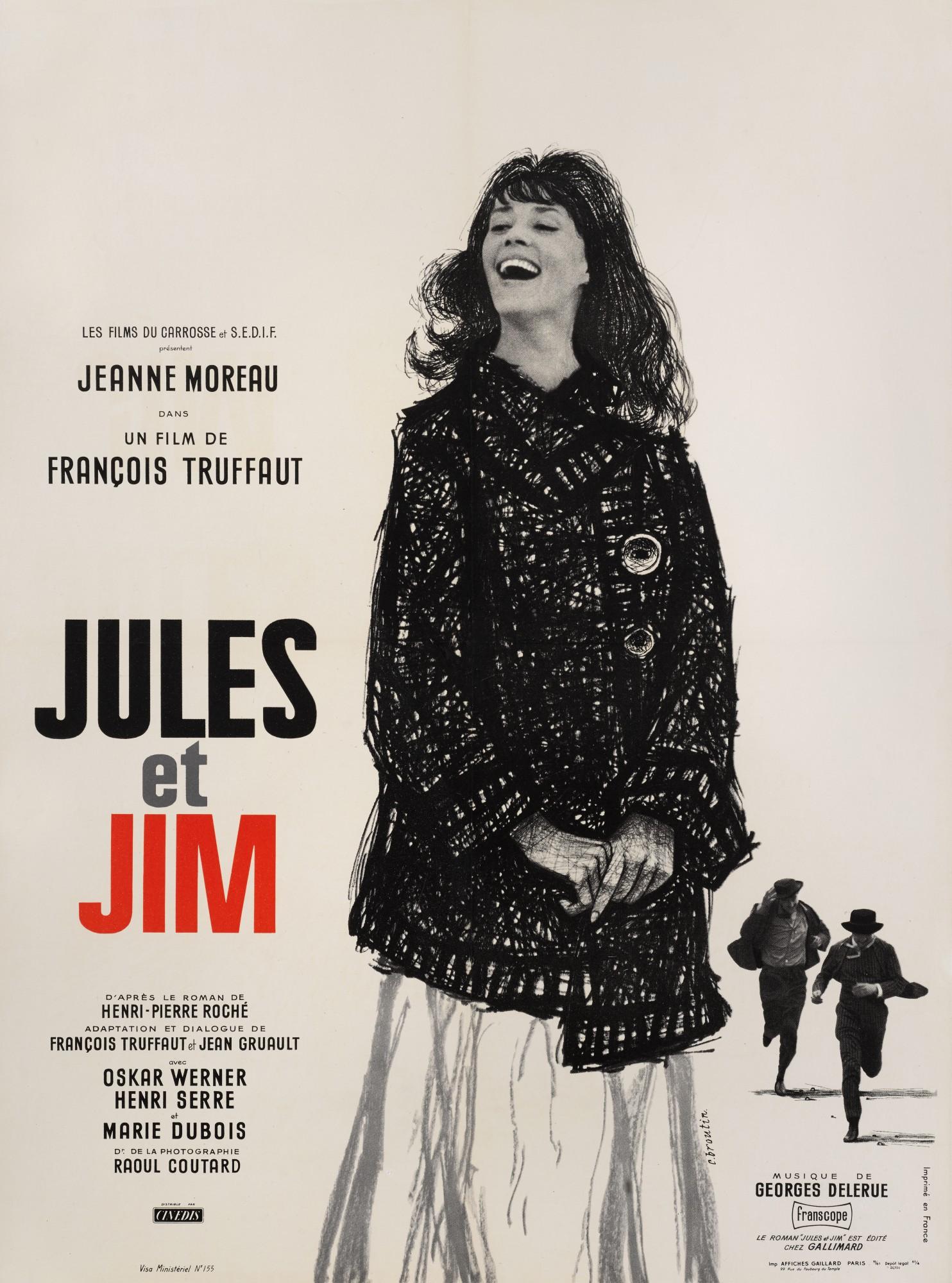 JULES ET JIM (1962) POSTER, FRENCH
