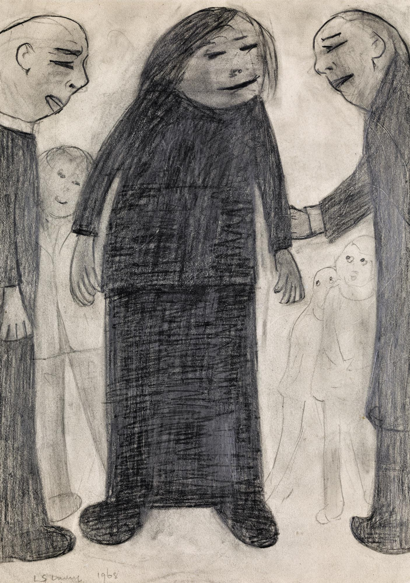 LAURENCE STEPHEN LOWRY, R.A. | GROUP OF SIX FIGURES