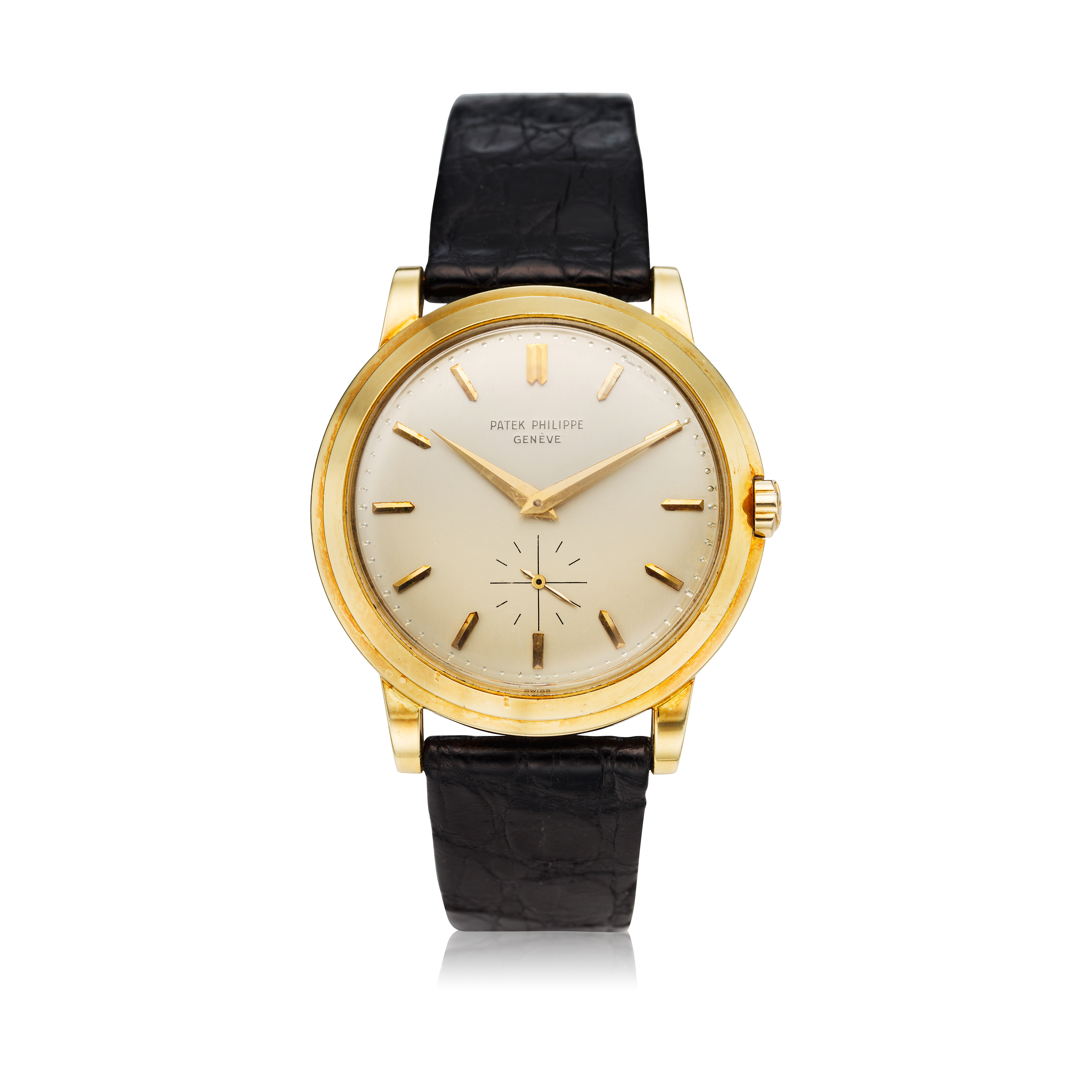 View full screen - View 1 of Lot 241. Reference 2552 'The Flying Saucer'  A yellow gold automatic wristwatch, Made in 1955 .