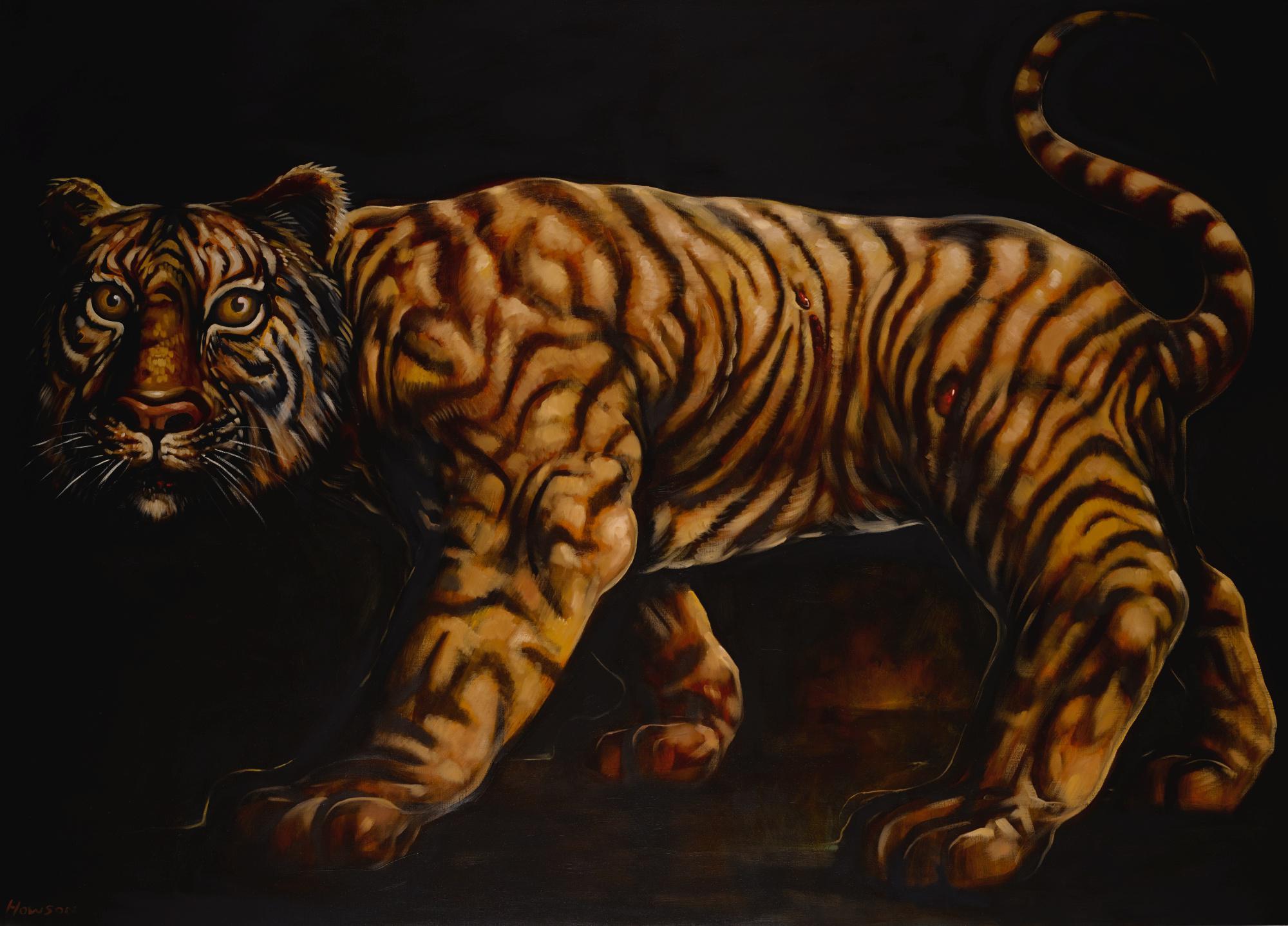 PETER HOWSON, O.B.E. | TIGER