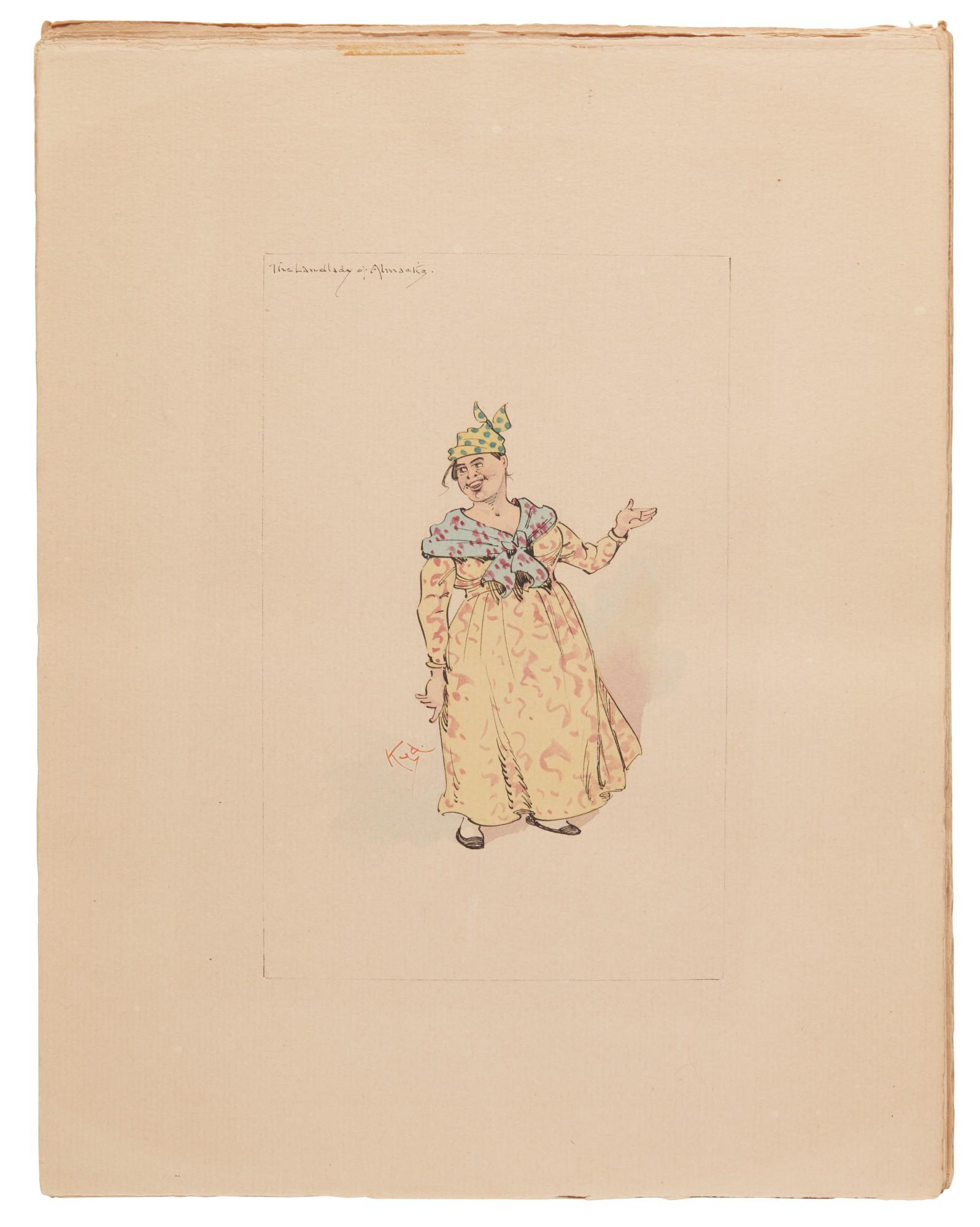 Clarke, 24 original illustrations to American Notes, [c.1920s]