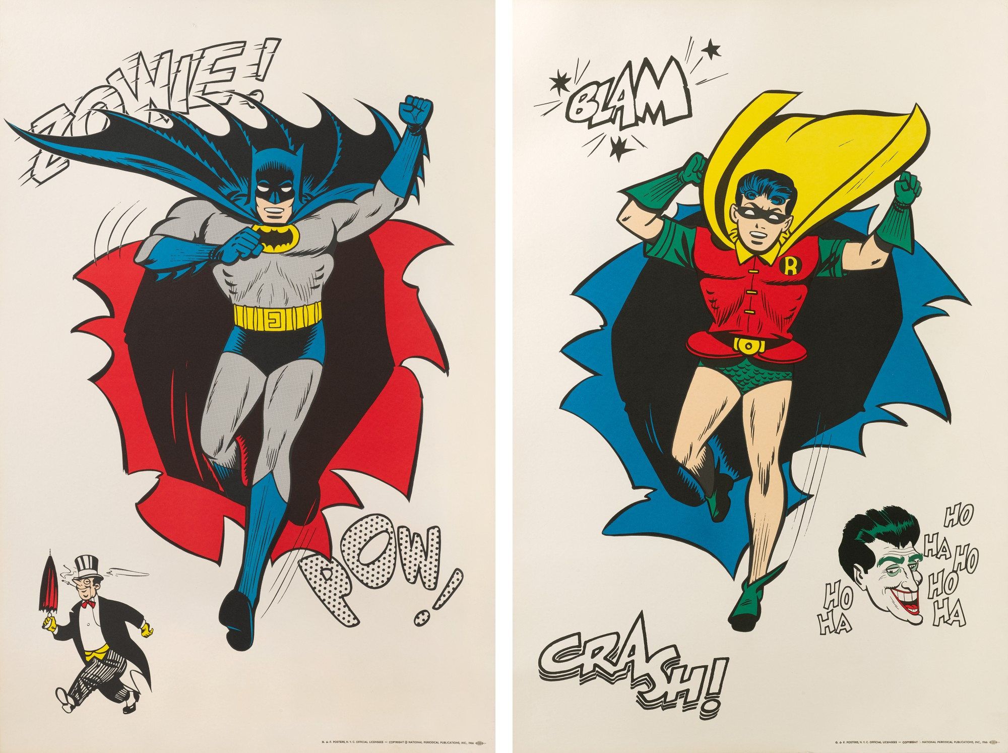 BATMAN AND ROBIN (1966) TWO POSTERS, US