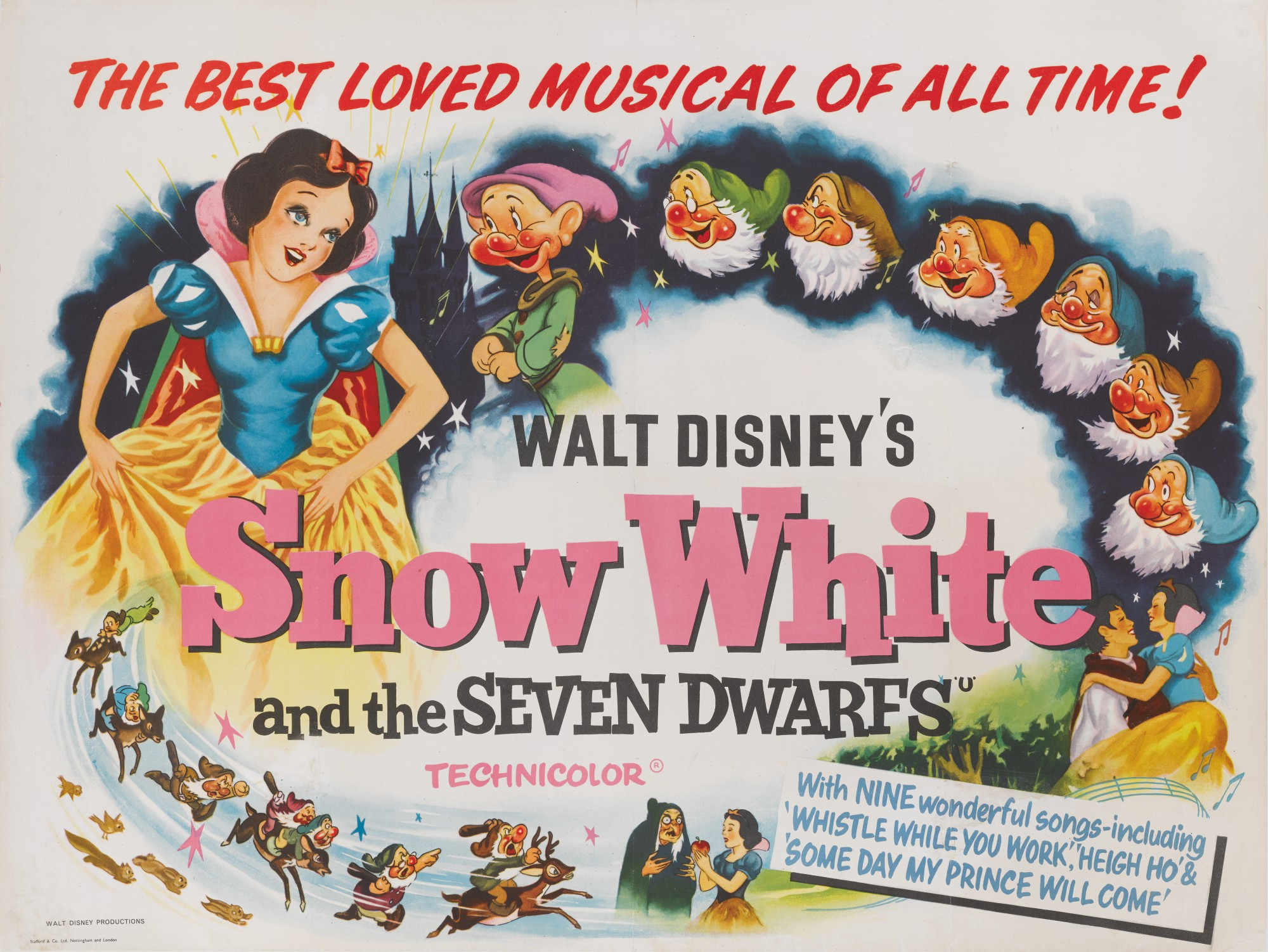 Image result for snow white poster 1937