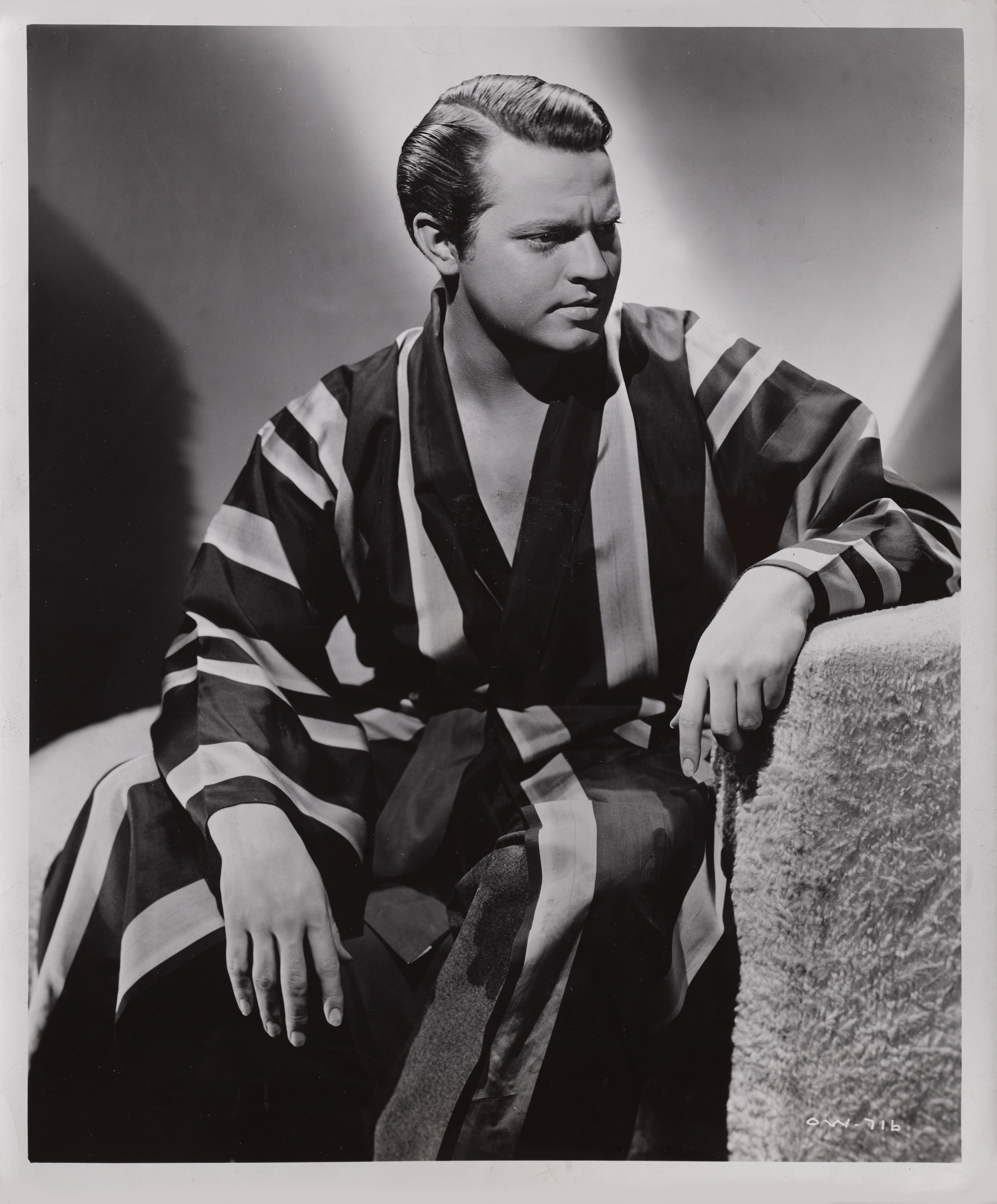 View full screen - View 1 of Lot 49. Orson Welles (1941), US, Single-weight gloss finish original studio production still .
