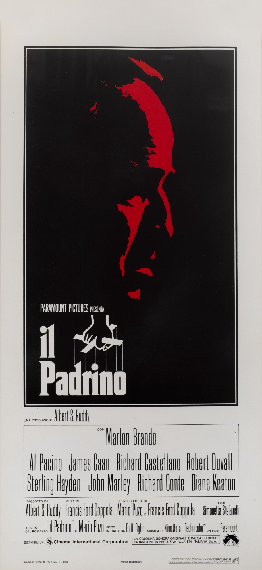 THE GODFATHER / IL PADRINO (1972) POSTER, ITALIAN
