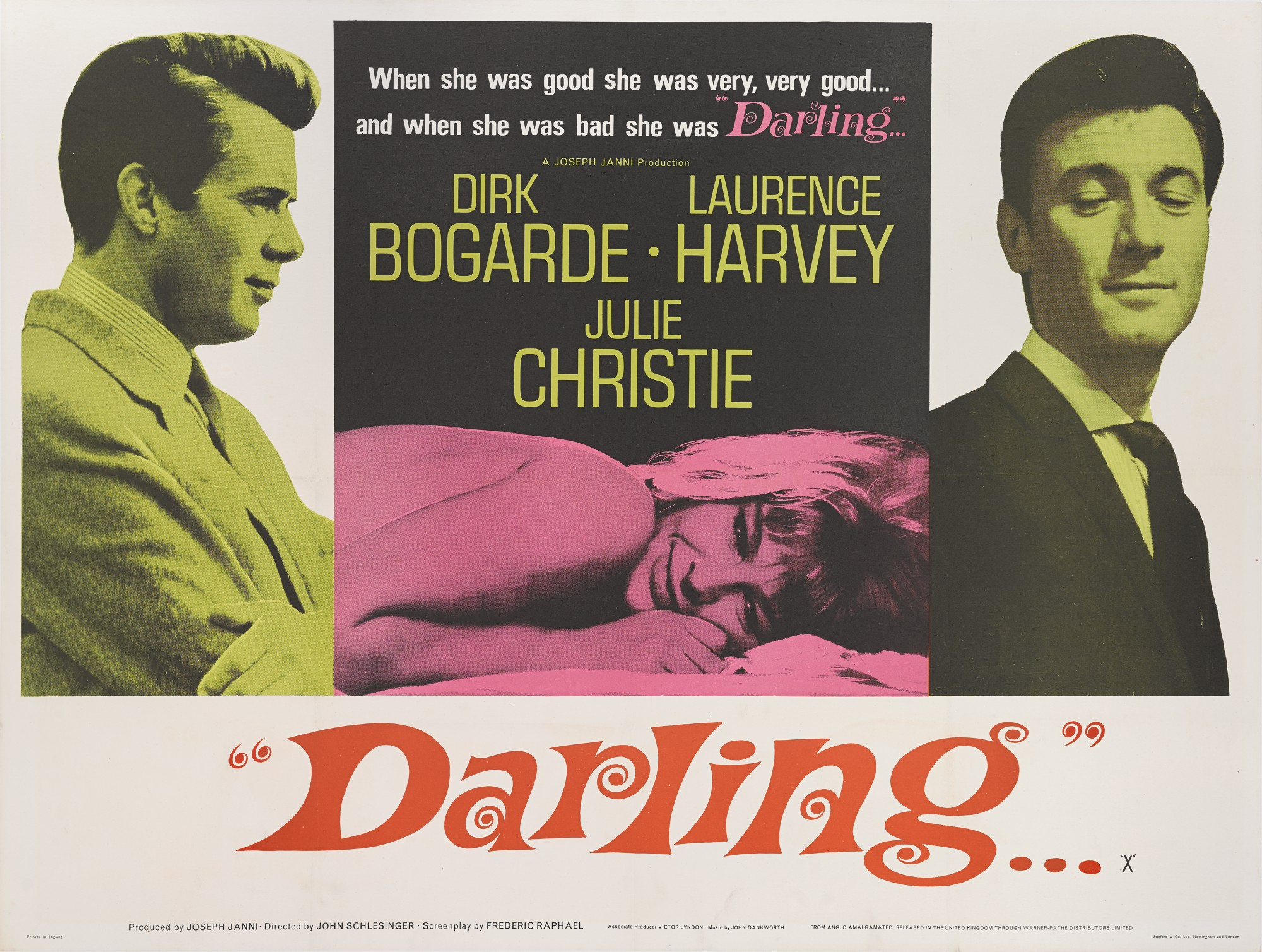 DARLING... (1965) POSTER, BRITISH