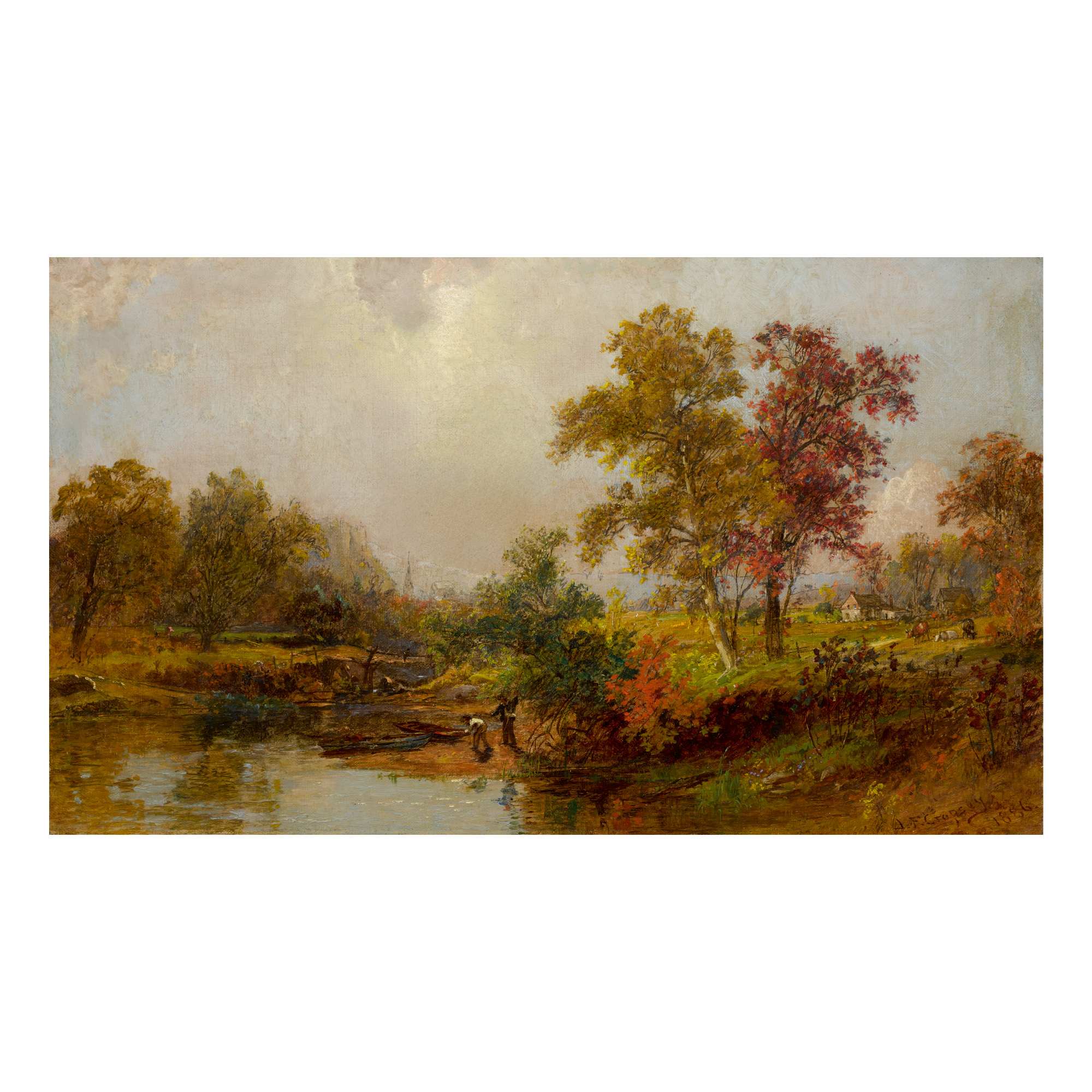 JASPER FRANCIS CROPSEY | AN OCTOBER DAY