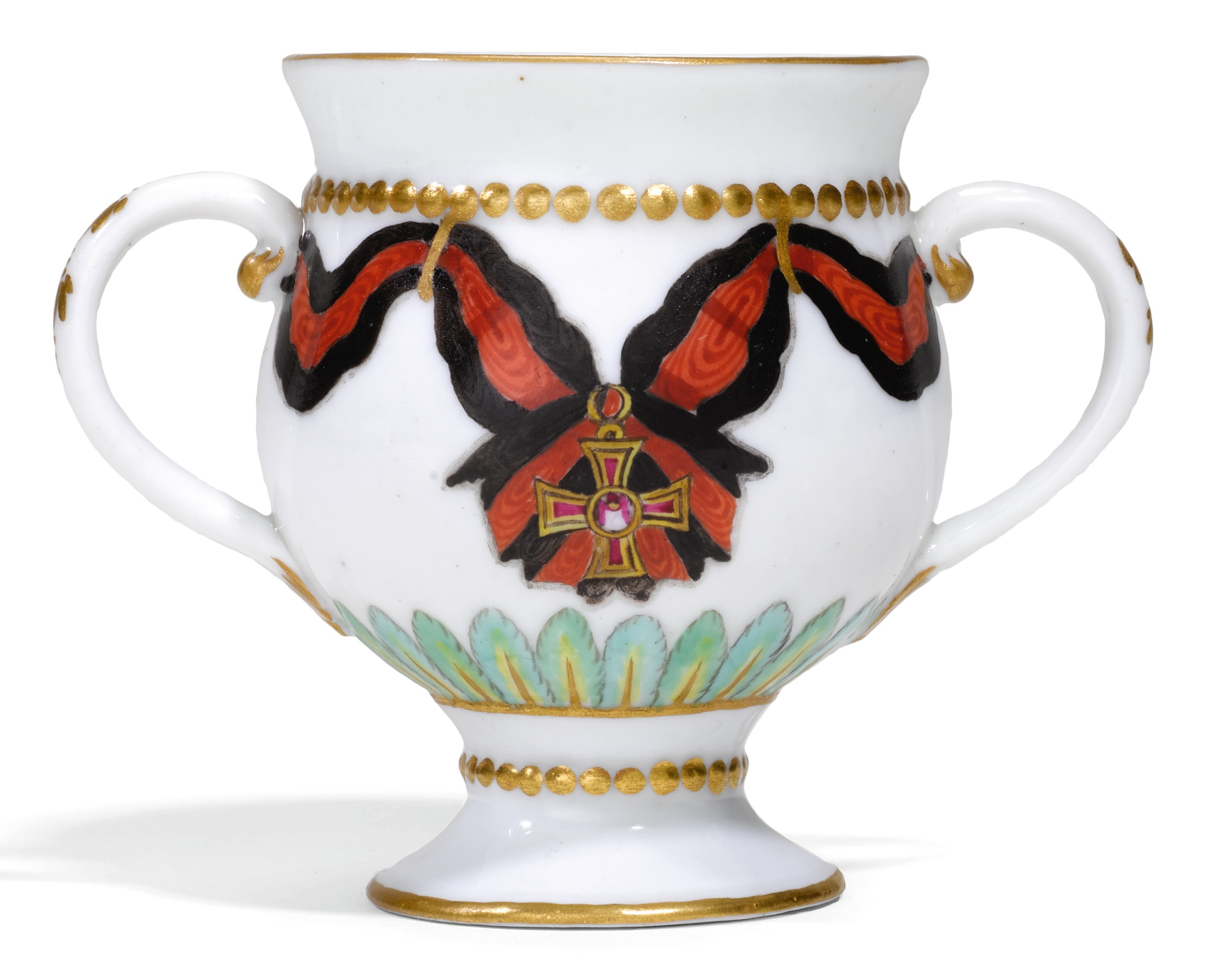 A RARE PORCELAIN ICE OR CUSTARD CUP FROM THE ORDER OF SAINT