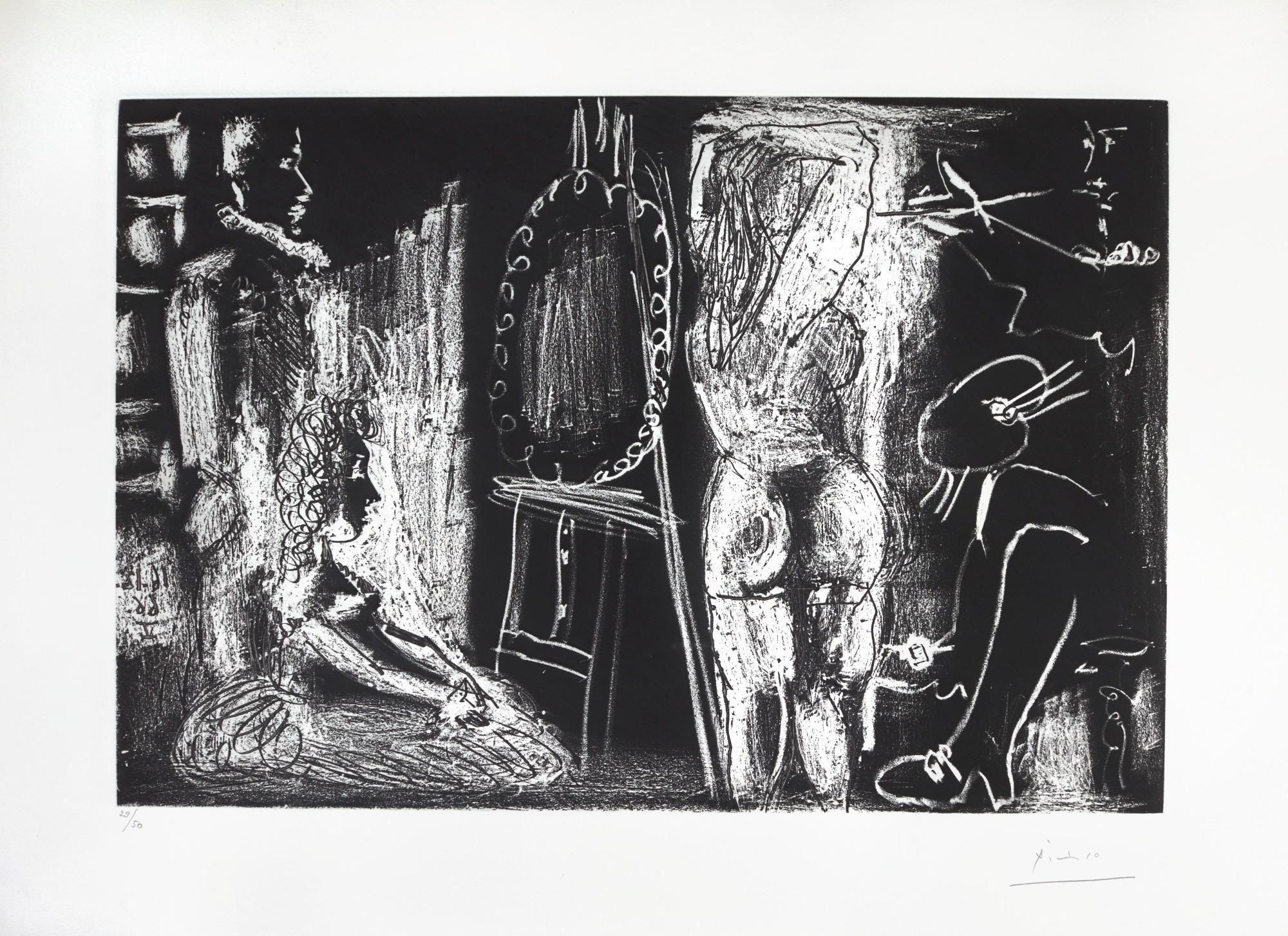 L Atelier 50 pablo picasso | visiteurs dans l'atelier (b. 1399; ba. 1472