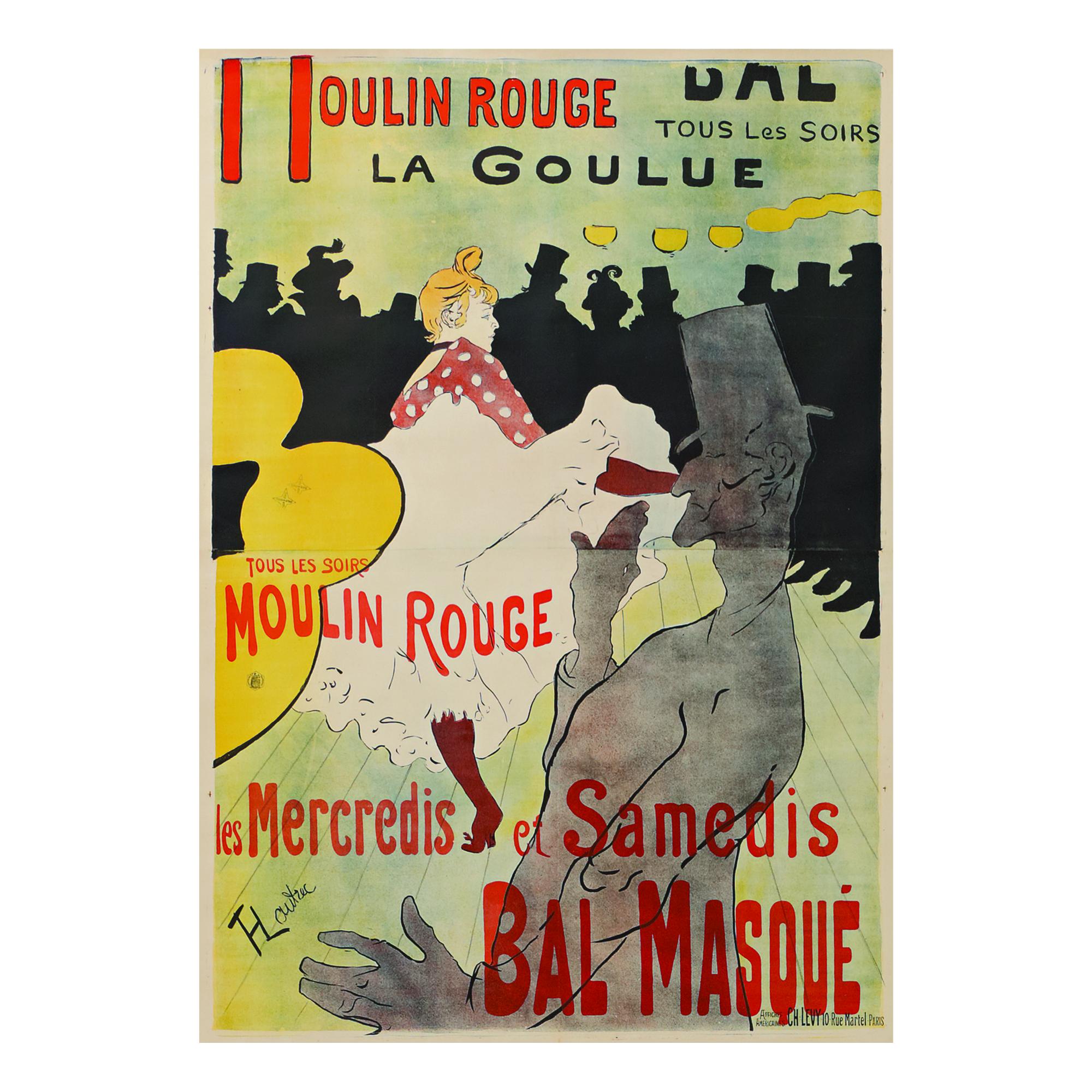 HENRI DE TOULOUSE-LAUTREC |  MOULIN ROUGE - LA GOULUE (D. 339; ADR. 1; W. P 1)