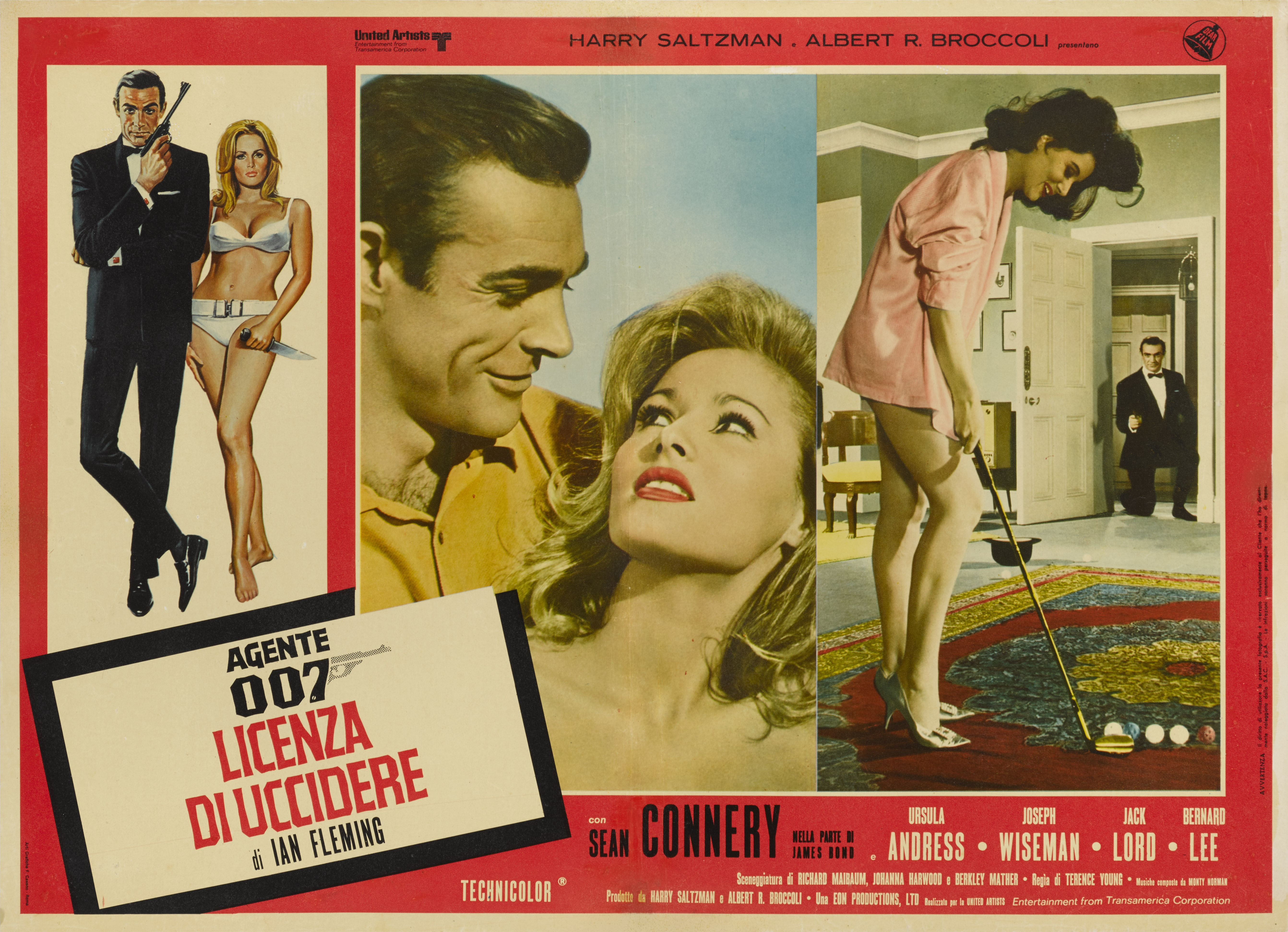 View 1 of Lot 15. DR. NO / AGENTE 007 - LICENZA DI UCCIDERE (1962) POSTER, ITALIAN, 1970s RE-RELEASE.