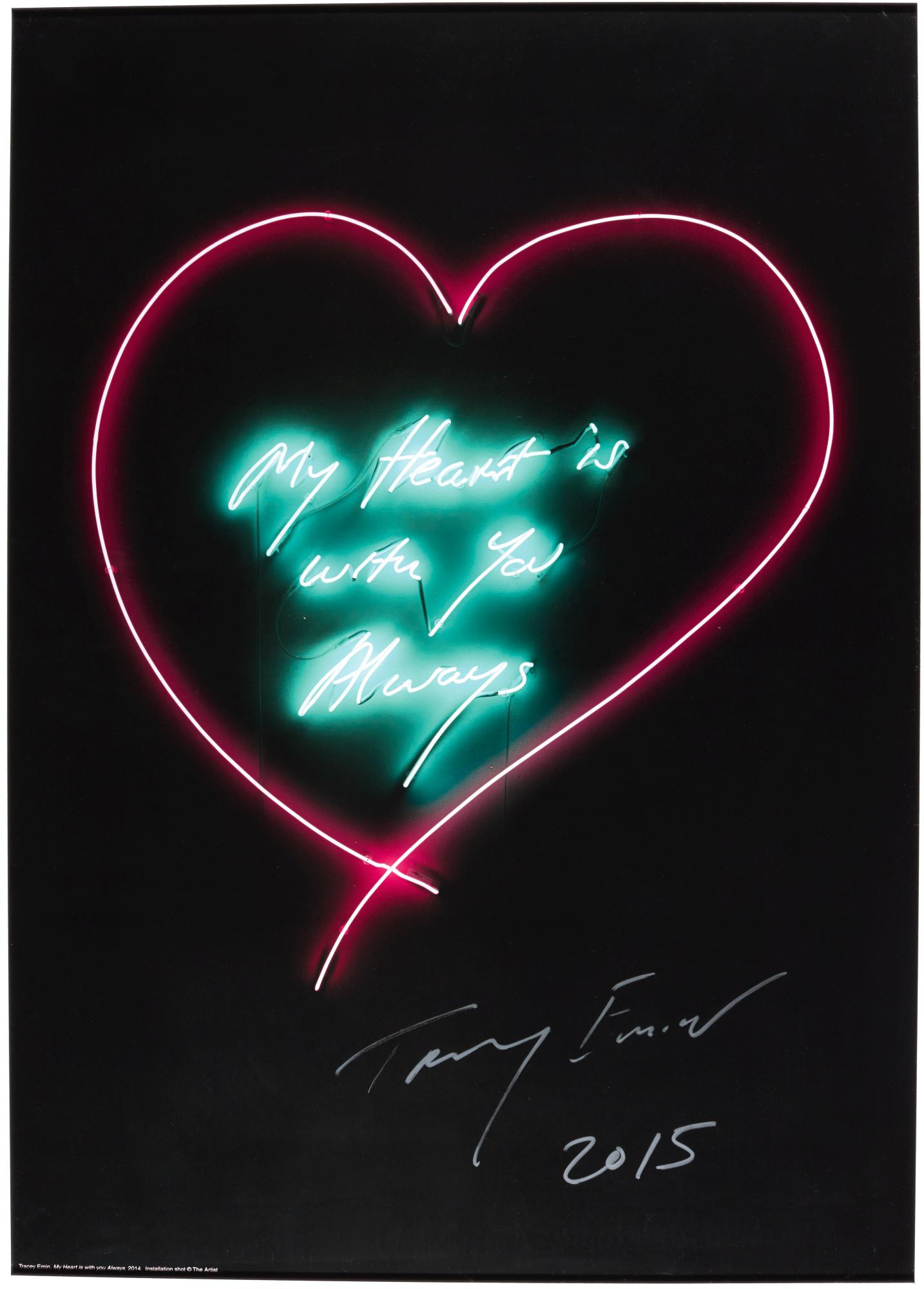 TRACEY EMIN | YOU LOVED ME LIKE A DISTANT STAR; AND MY HEART IS WITH YOU ALWAYS