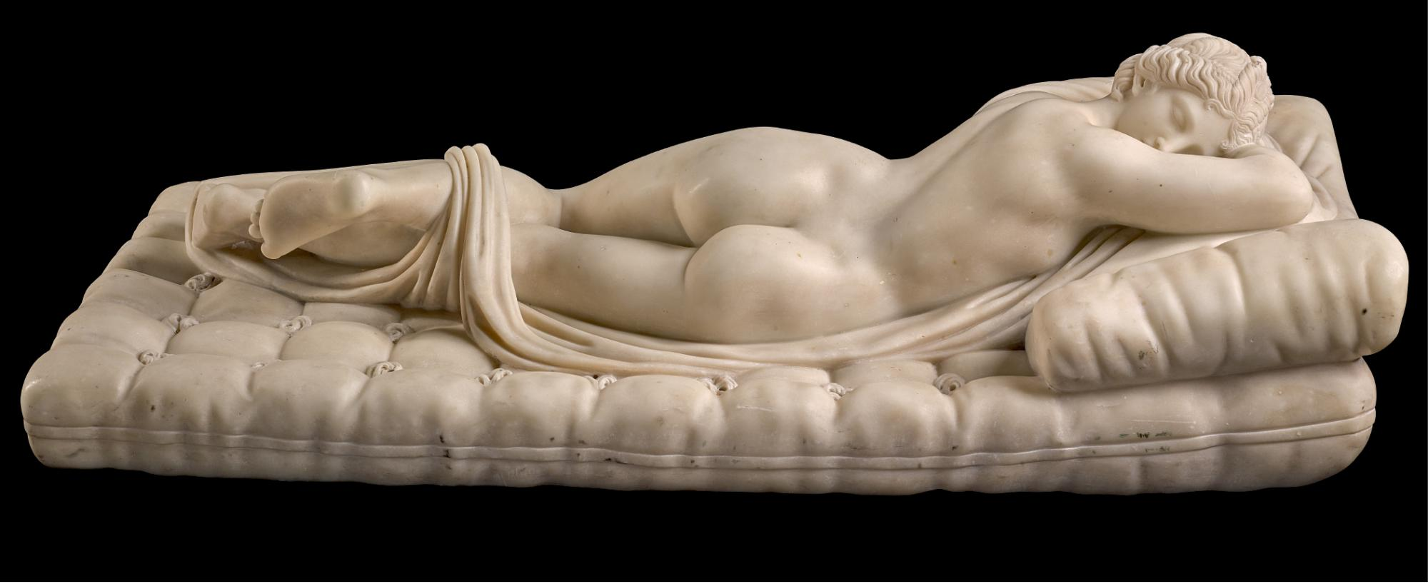 FRENCH OR ITALIAN, 19TH CENTURY,  AFTER THE ANTIQUE | HERMAPHRODITE