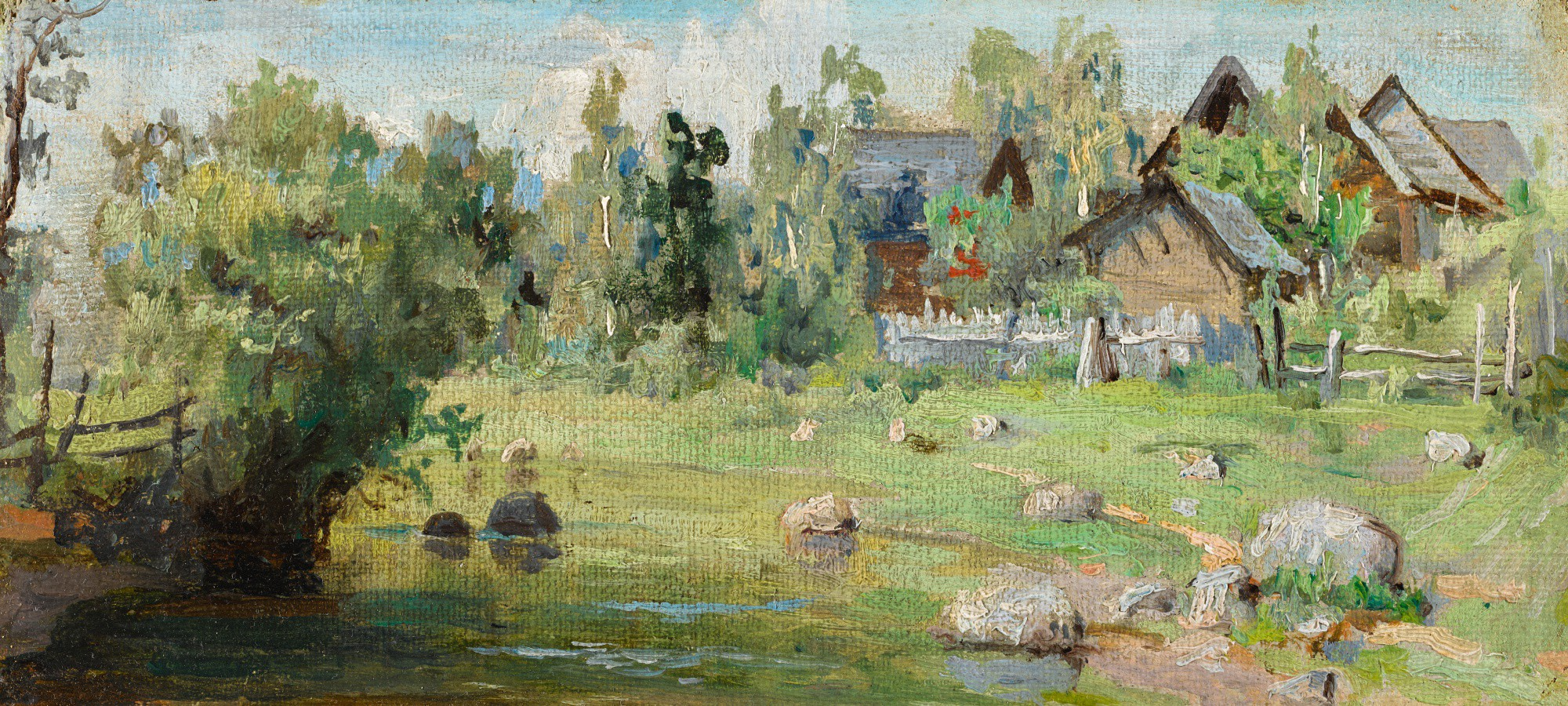VASILY DMITRIEVICH POLENOV | OUTSKIRTS OF THE VILLAGE